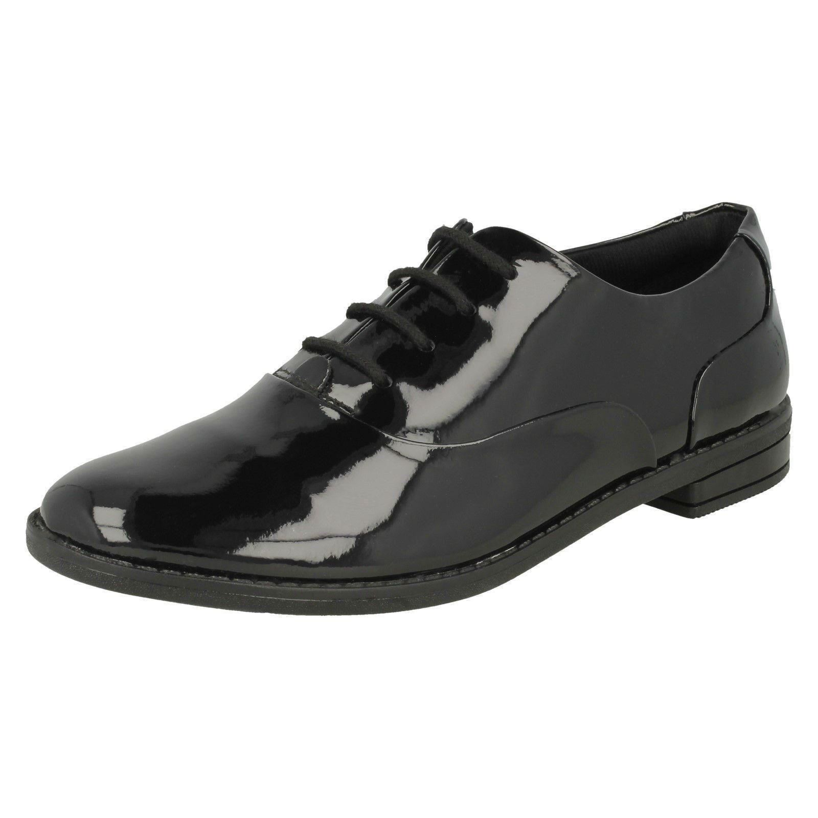 a9b1480069a Details about Clarks Girls Lace Up Brogue School Shoes  Drew Star