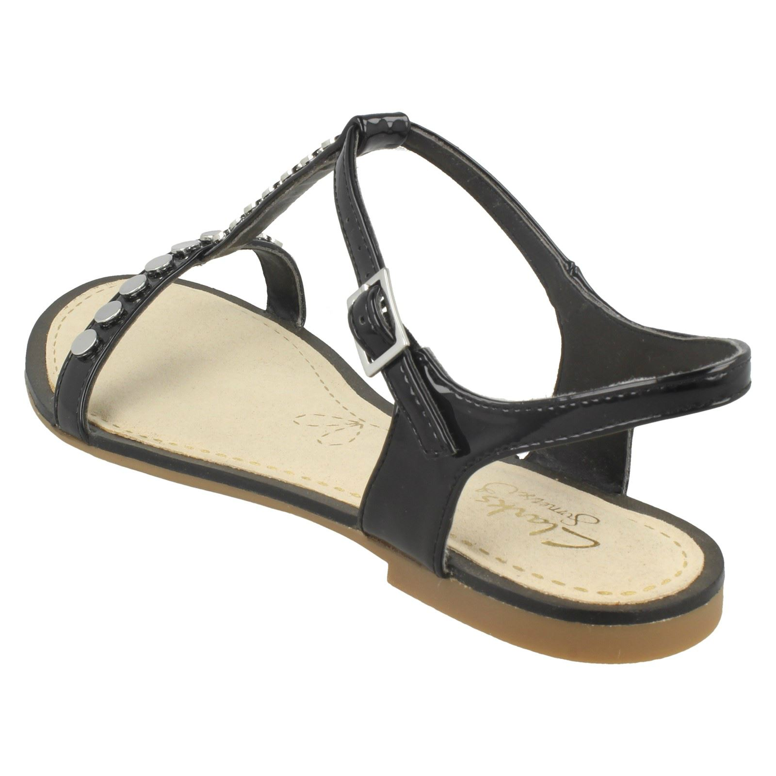 9dd405696 Ladies Clarks Flat Studded Buckled Summer Sandals Sail Festival 3 UK Black  D. About this product. Picture 1 of 10  Picture 2 of 10  Picture 3 of 10   Picture ...