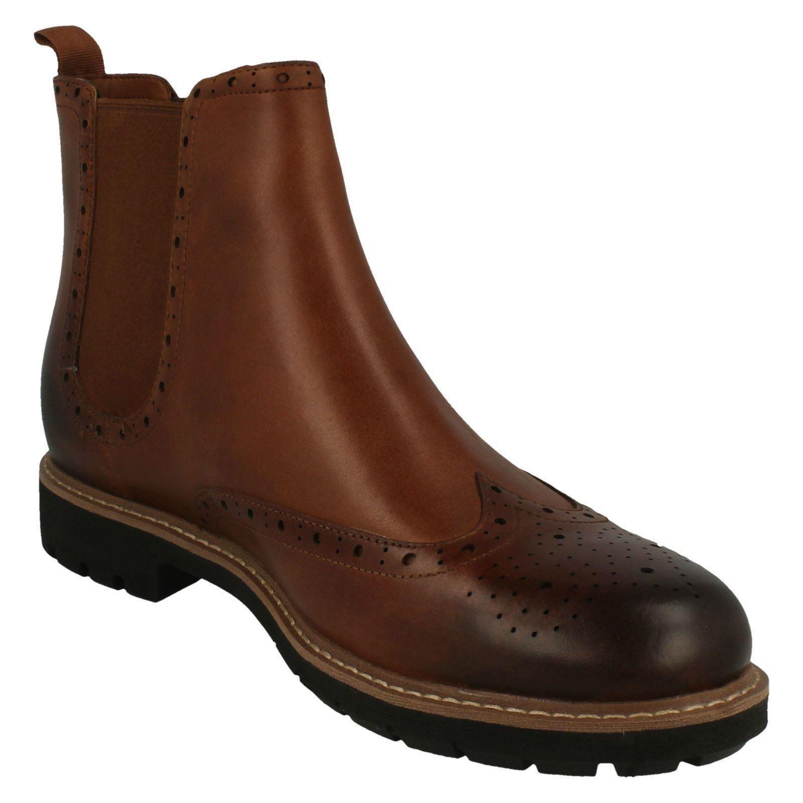 Chelsea Top Batcombe marrone Tan Dark Boots Clarks Smart Mens qvc1pHfq