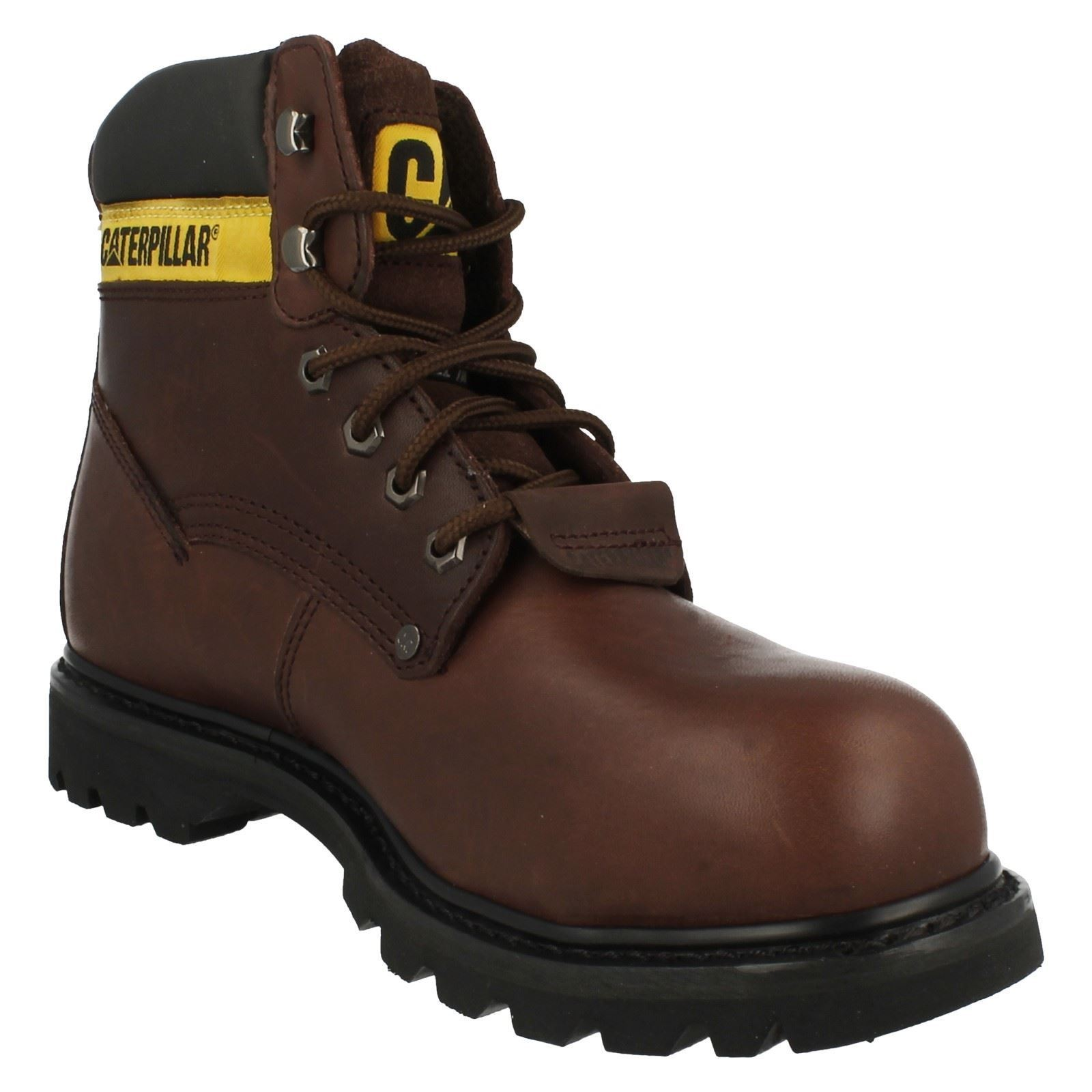 Mens Caterpillar Lace Up Boots Steel Toe Cap Boots Up Sheffield bd86bf