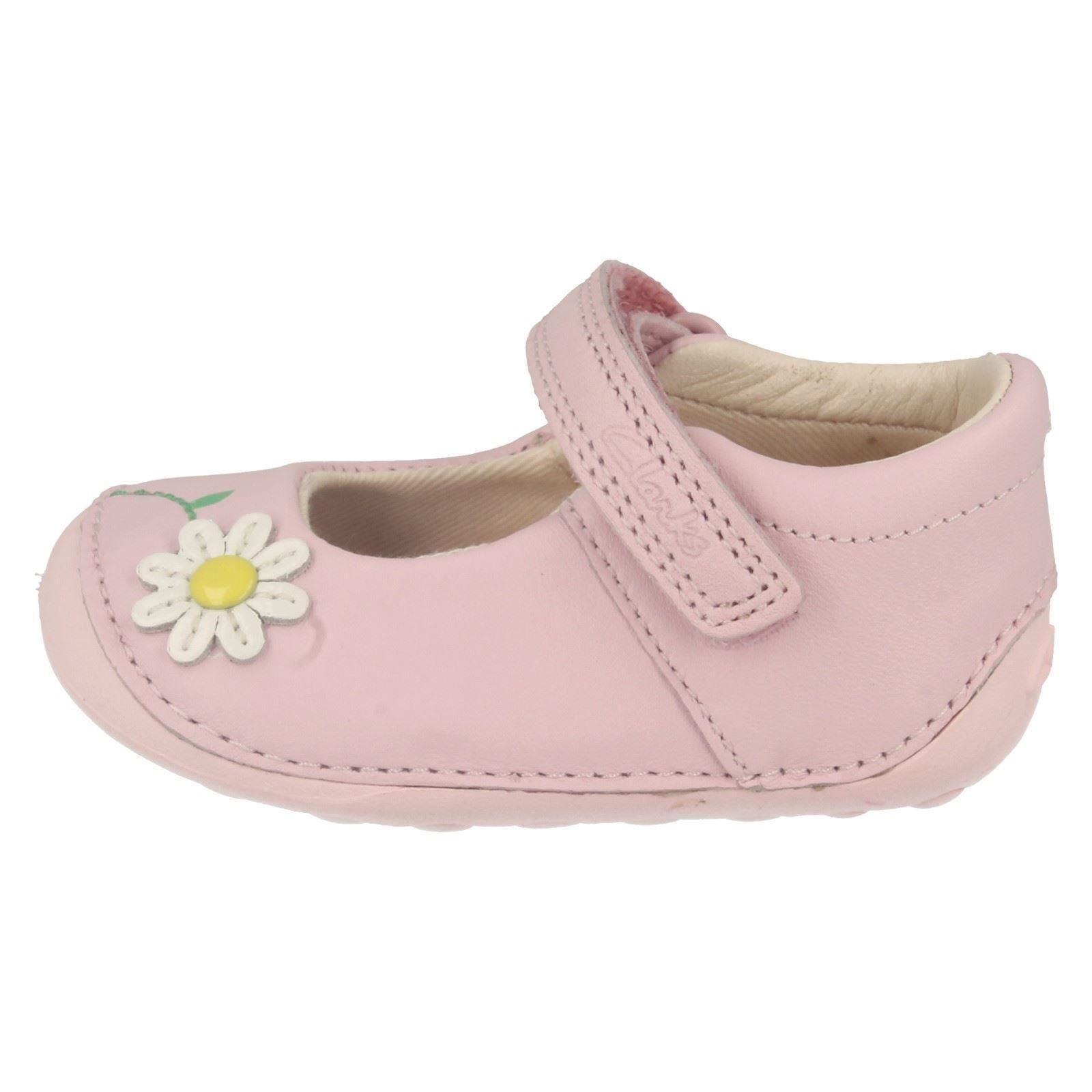 Infant Baby Girls Clarks Hook & Loop Leather Cruiser Shoes