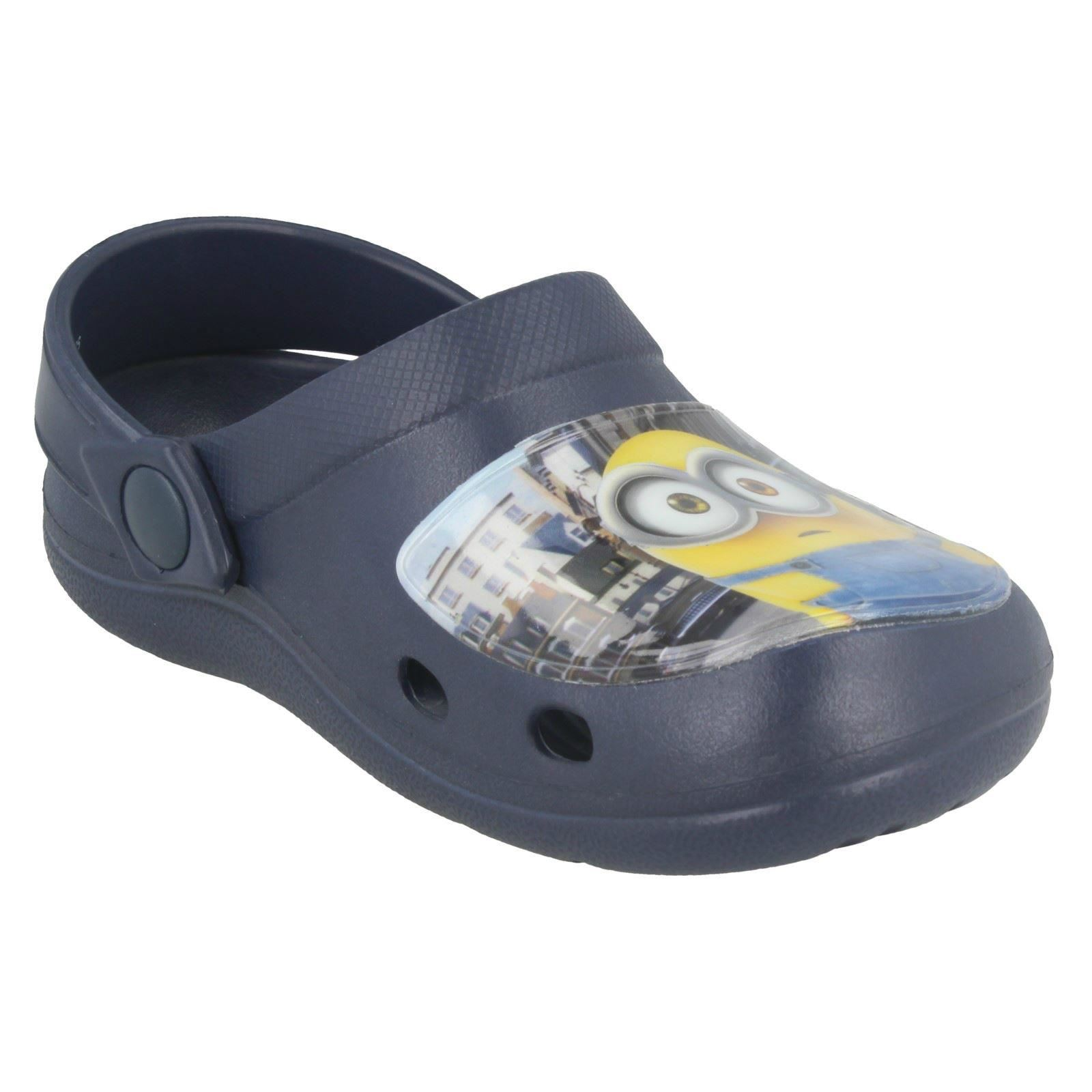 Minions Boys Slip On Clogs Whymper