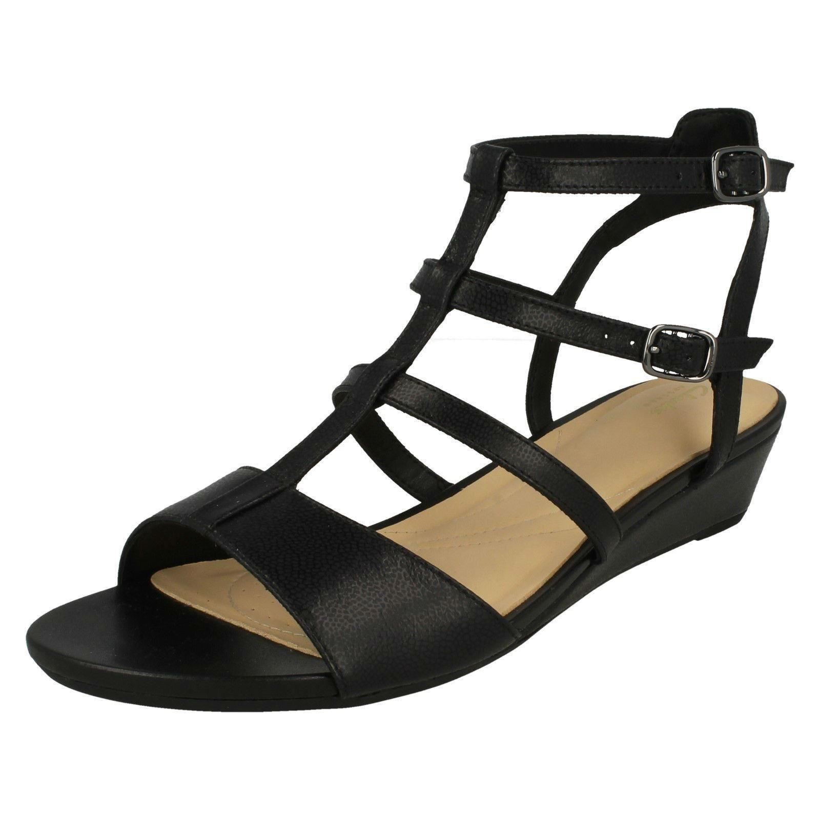 a91046e4f4c64 Clarks Parram Spice - Black Nubuck Womens Sandals 7 UK. About this product.  Picture 1 of 10  Picture 2 of 10 ...