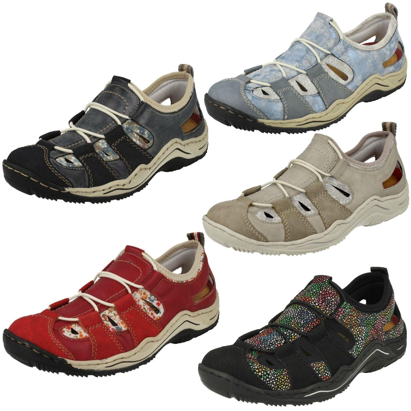 Ladies Rieker L0561 Casual Shoes   eBay