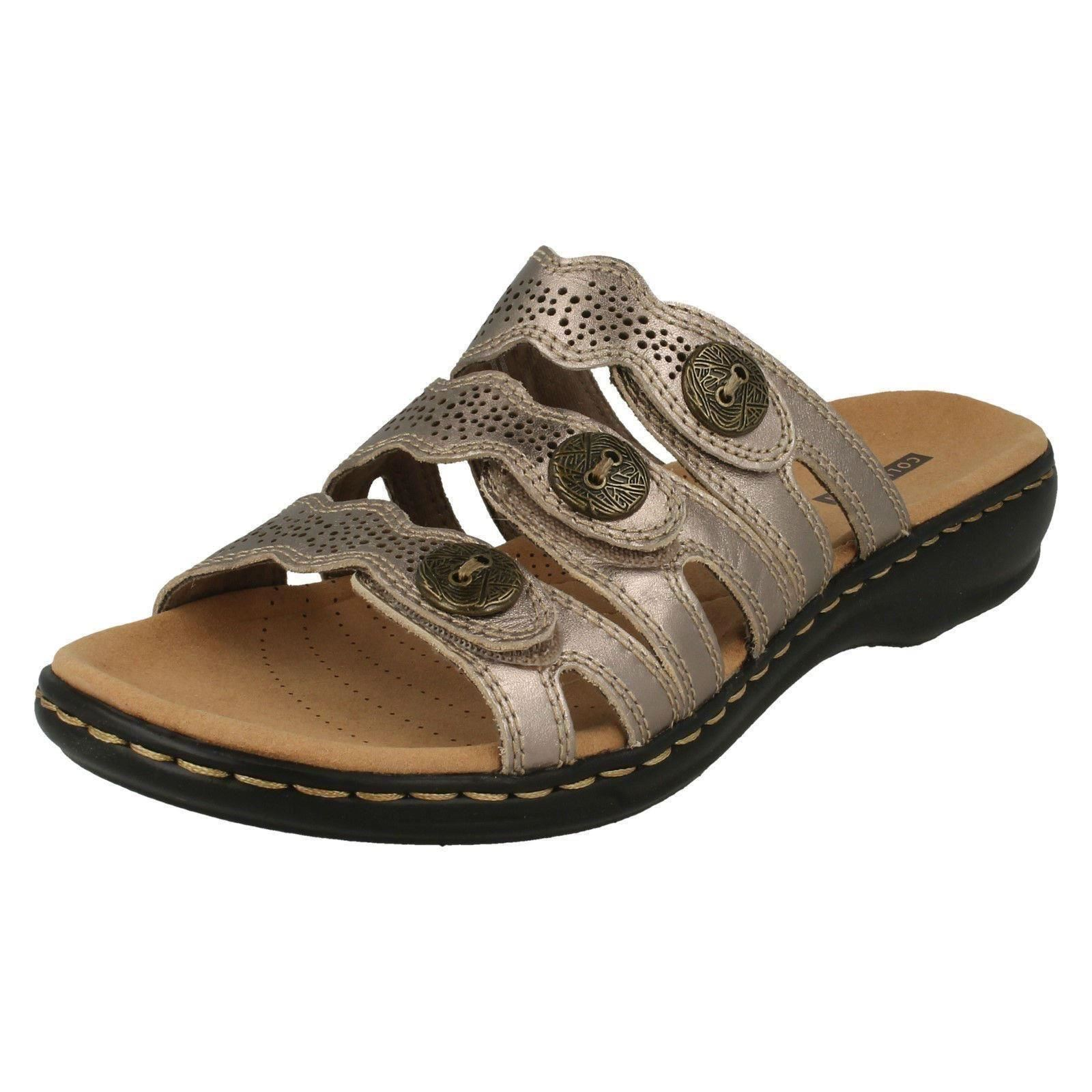 c8fb52e9116d Clarks Ladies Mule Sandals Leisa Grace UK 6 eu 38.5 us 8 Pewter