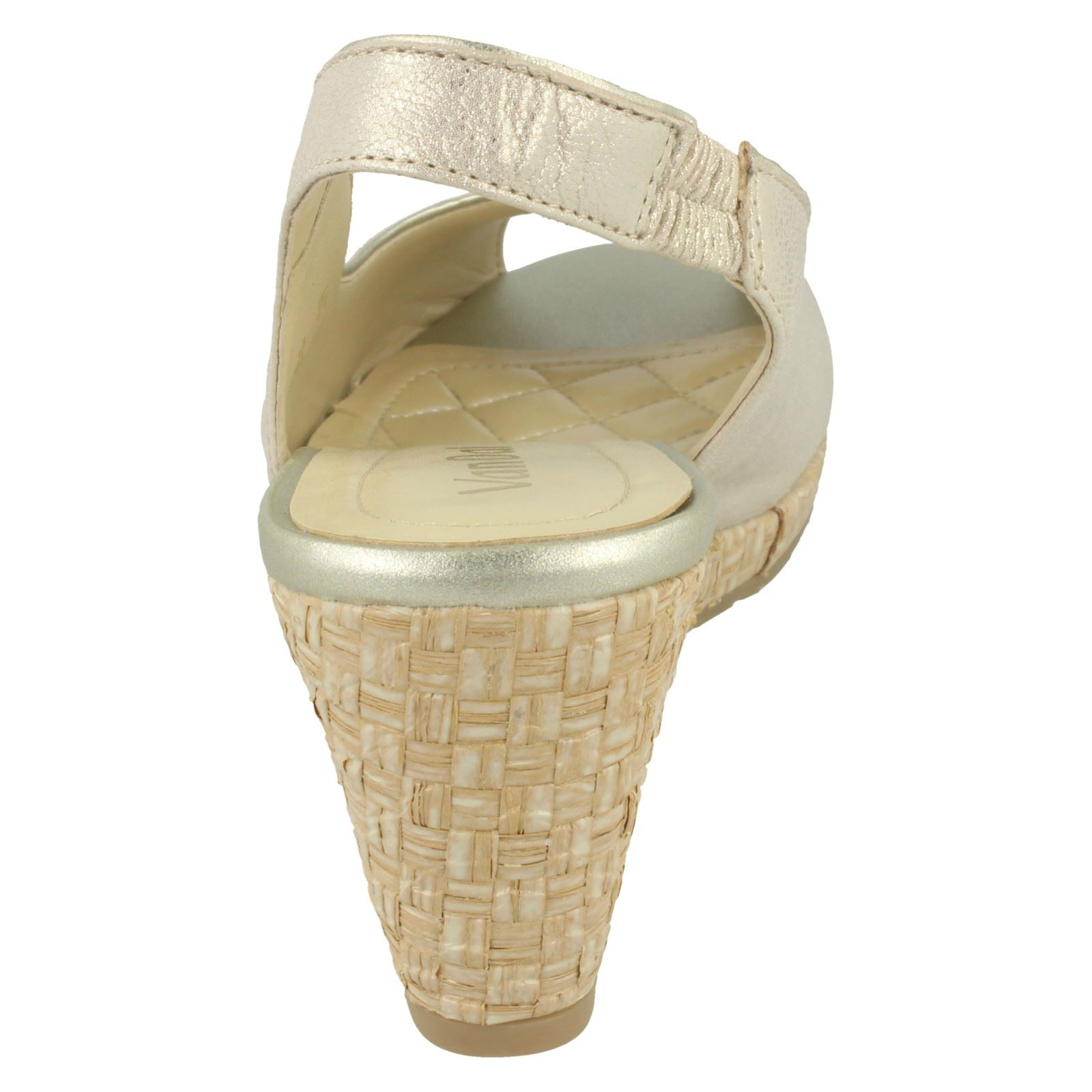 Ladies-Van-Dal-Leather-Wedge-Sandal-With-Woven-Detail-Avalon thumbnail 12