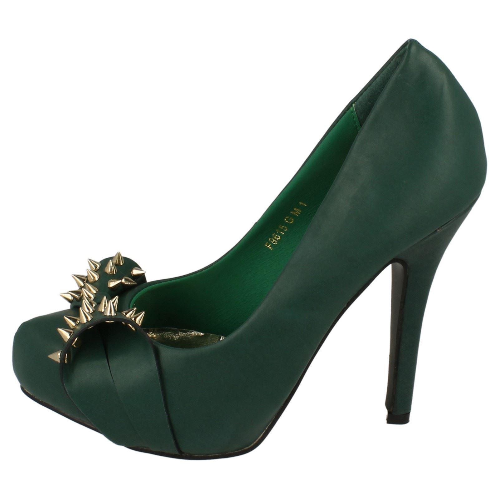 Damas Spot On Zapatos de plataforma con cierre Slip On