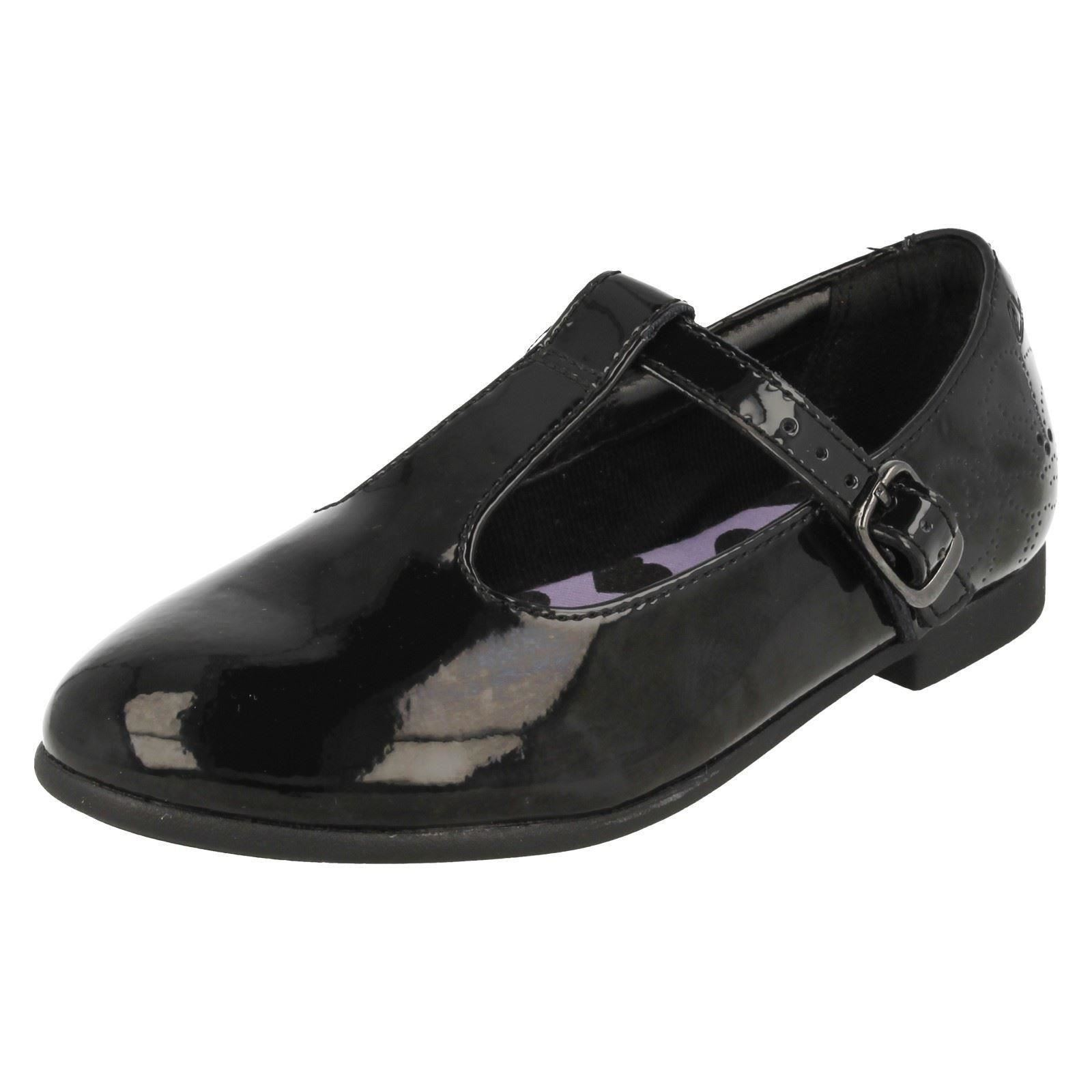 Clarks Niñas T-Bar Inteligente Escuela Zapatos-Selsey Fudge