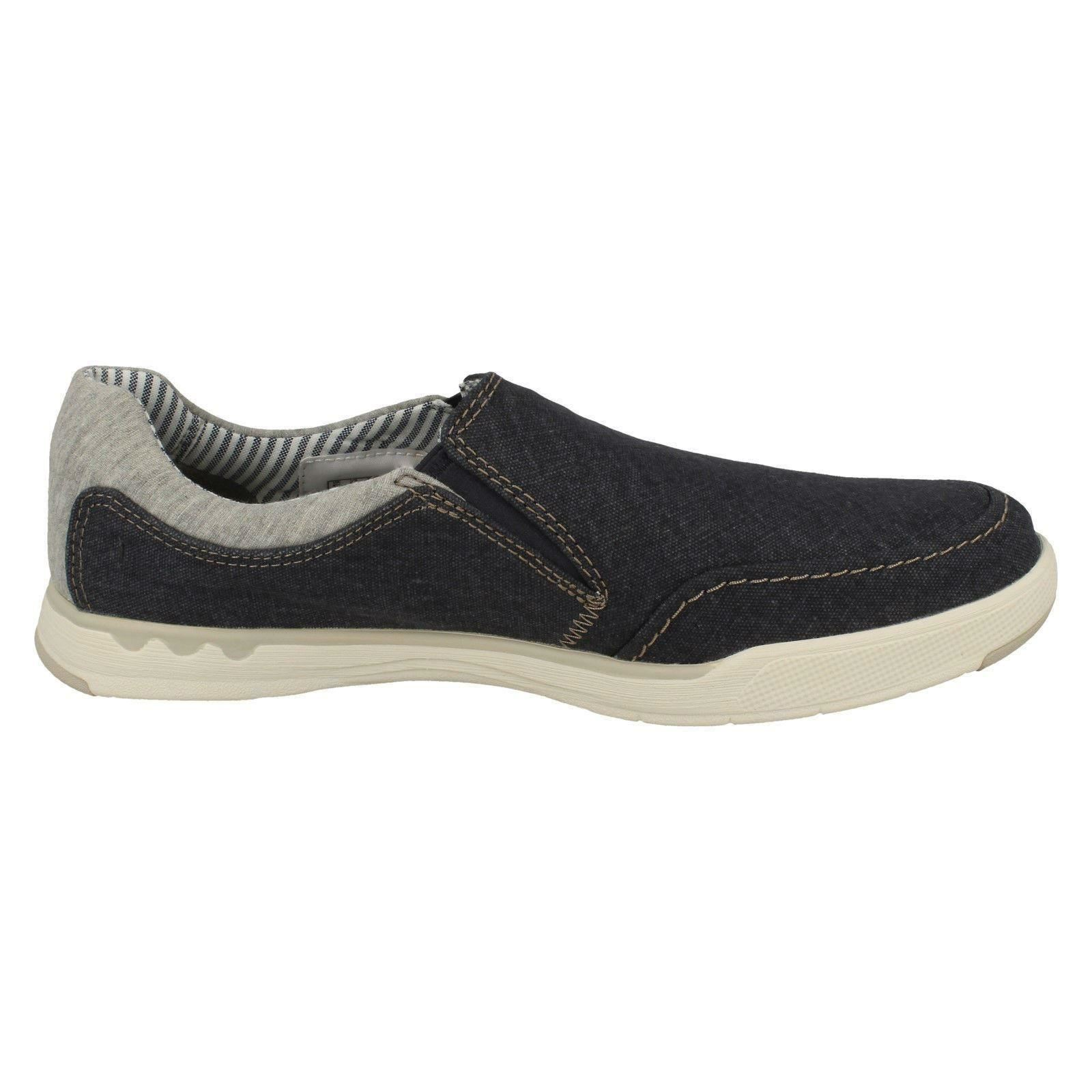Uomo Clarks Cloudsteppers Casual Slip On Canvas Slip Schuhes - Step Isle Slip Canvas 8c413a