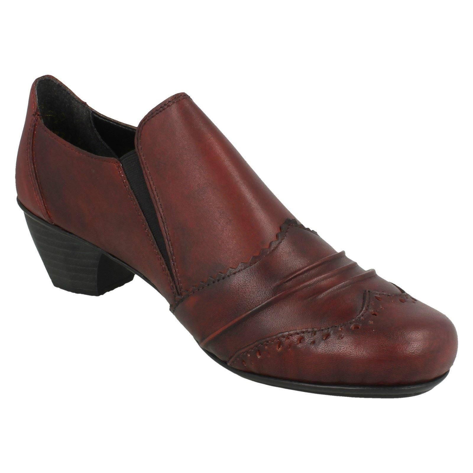 Rieker Ladies Heeled 41730 Heeled Ladies Shoes With Brogue Detailing 6b7b0e