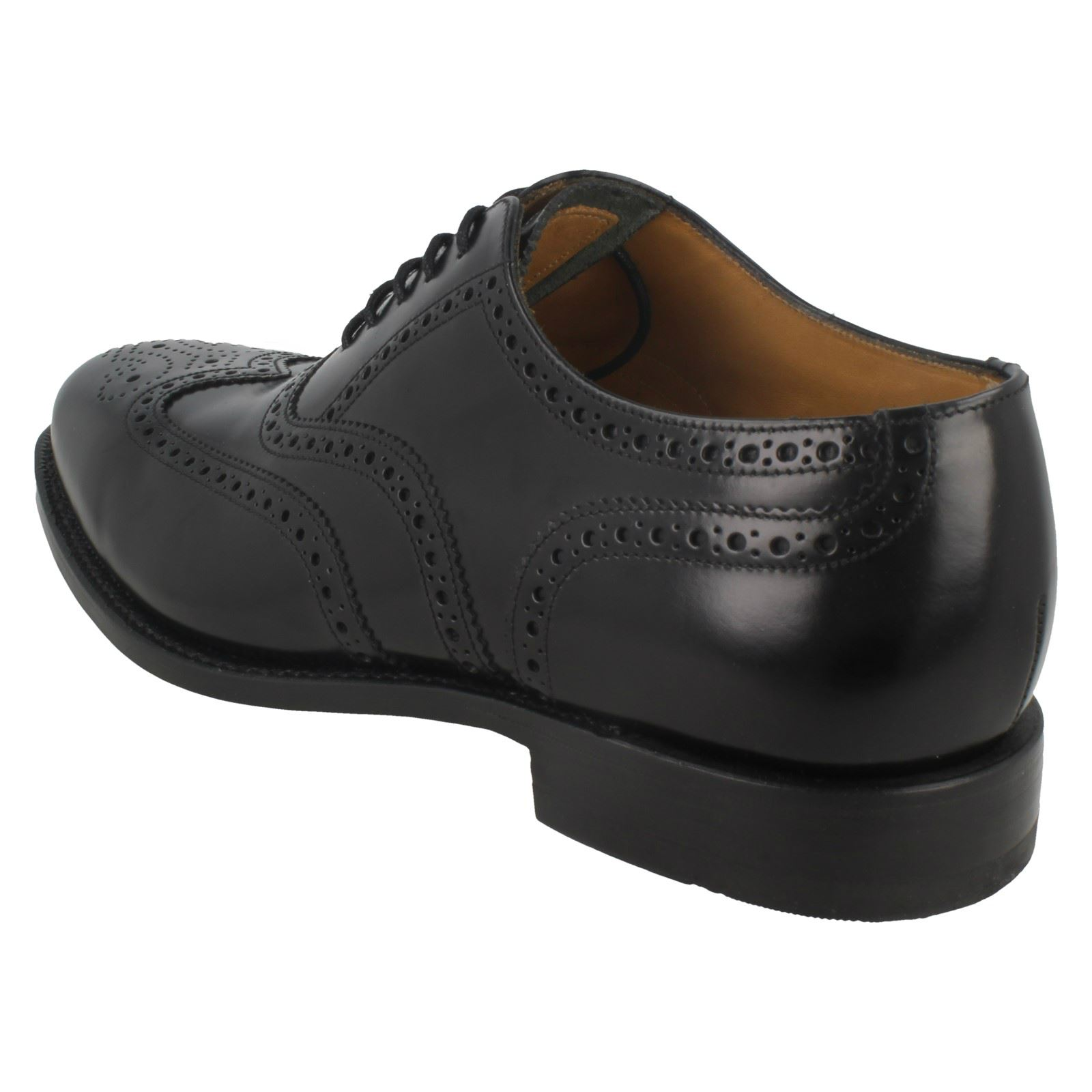 Polished Leather Mens Smart Loake Brogues202bBlack doCeBx