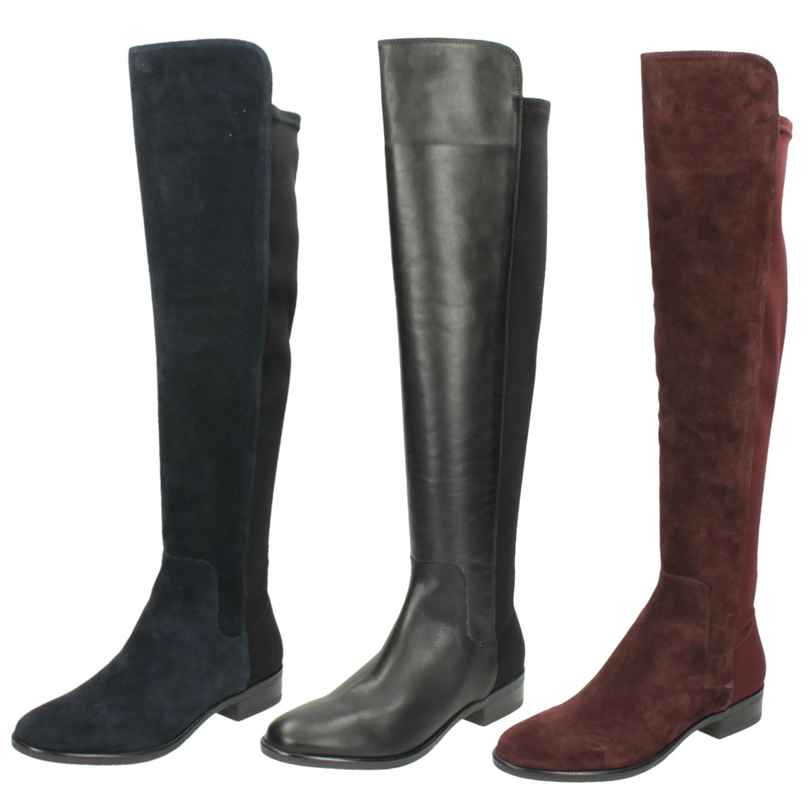 3a87c8066f2 Details about Ladies Clarks Knee High Boots