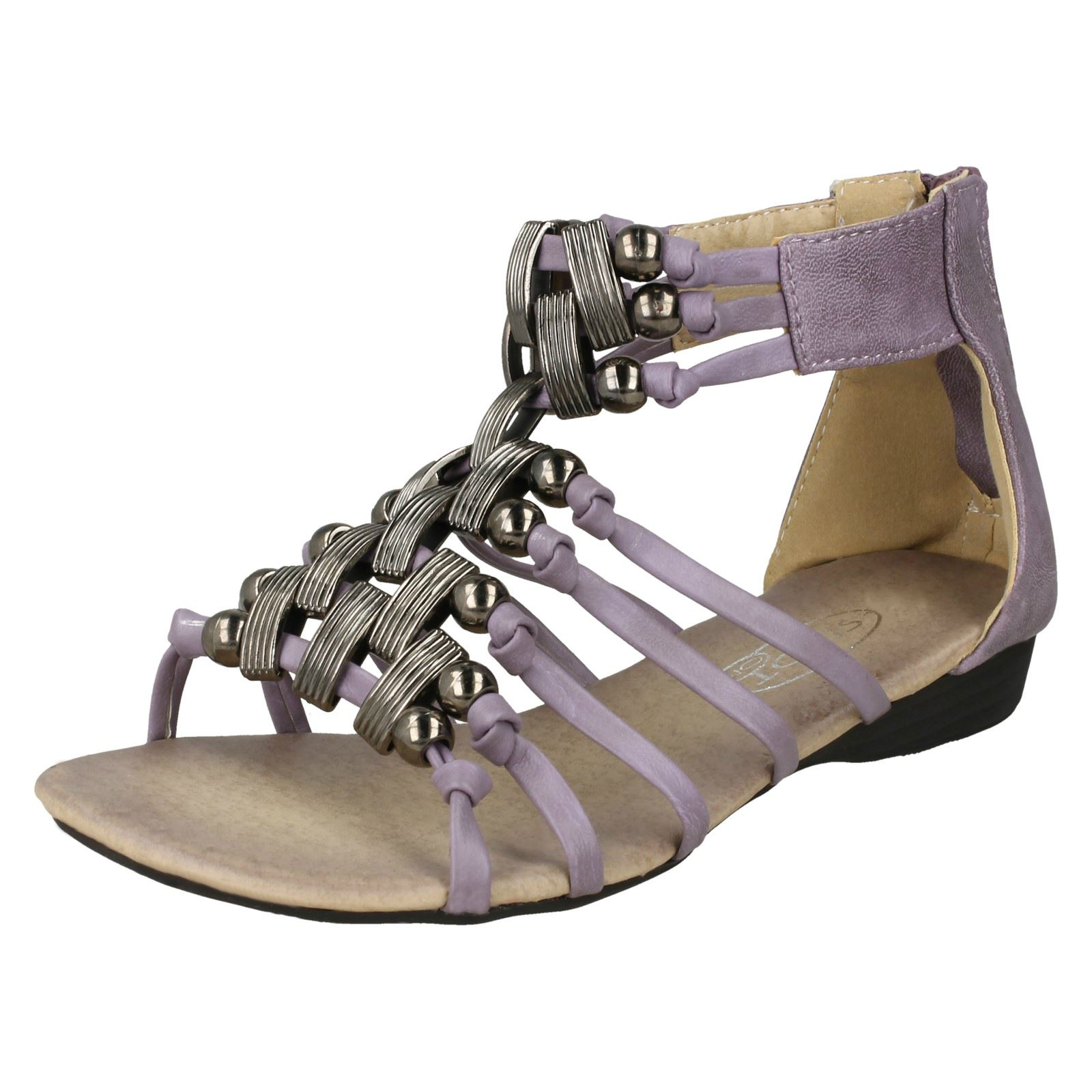 Girls Spot On Heeled Gladiator *Sandals*