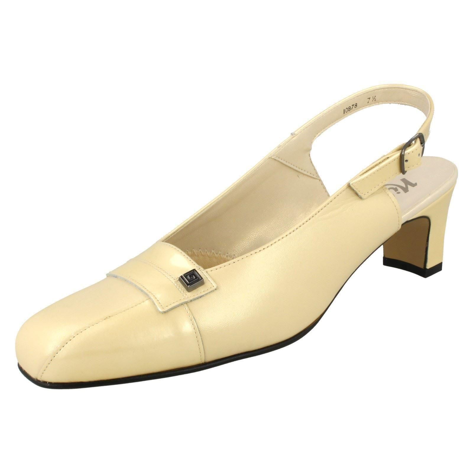 3f6b9b06a59 Ladies Nil Simile Narrow Fitting Slingback Shoes Delaware Light Gold Pearl  (ivory) UK 5 Narrow. About this product. Picture 1 of 10  Picture 2 of 10  ...