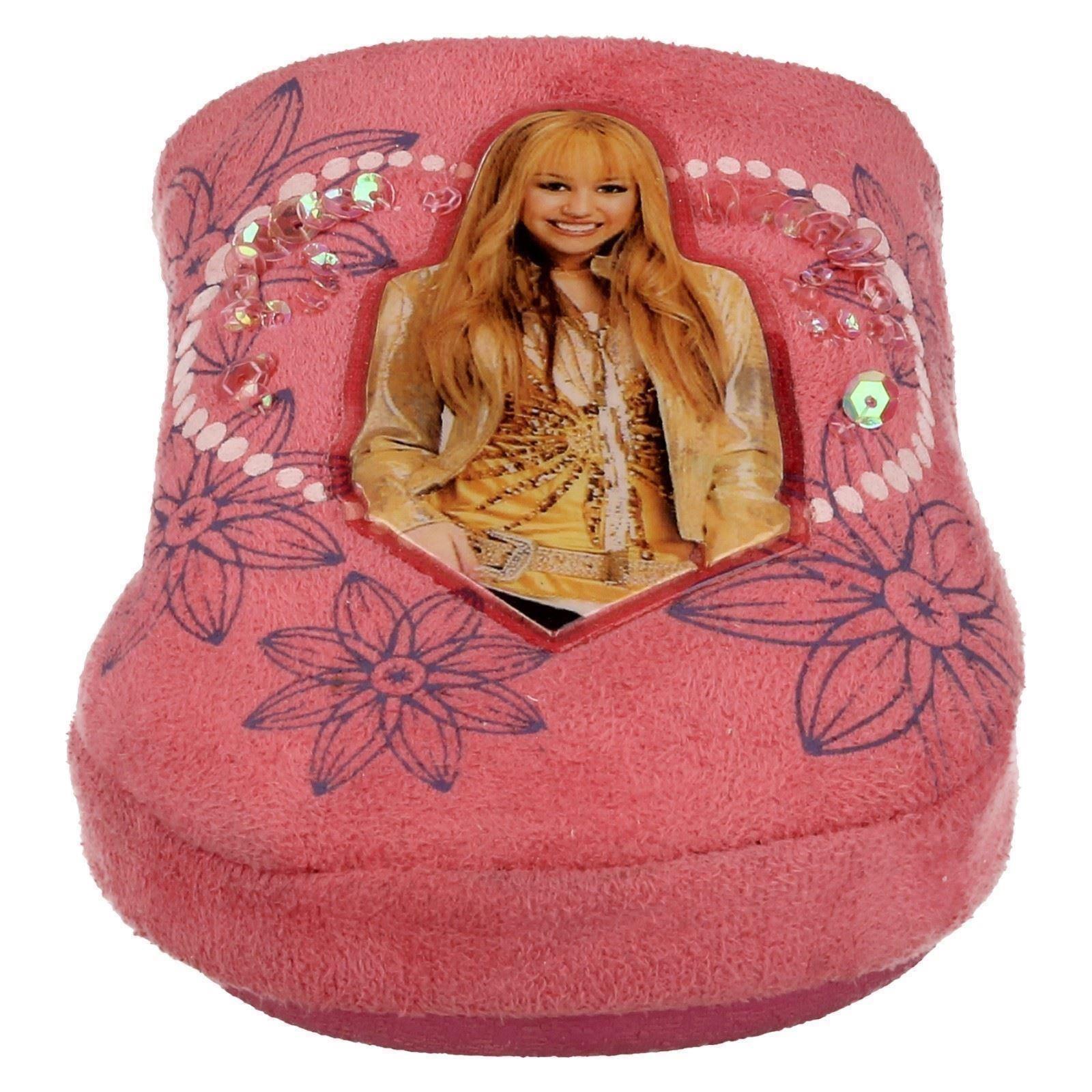 Niñas Spot On Mula Pantuflas Hannah Montana