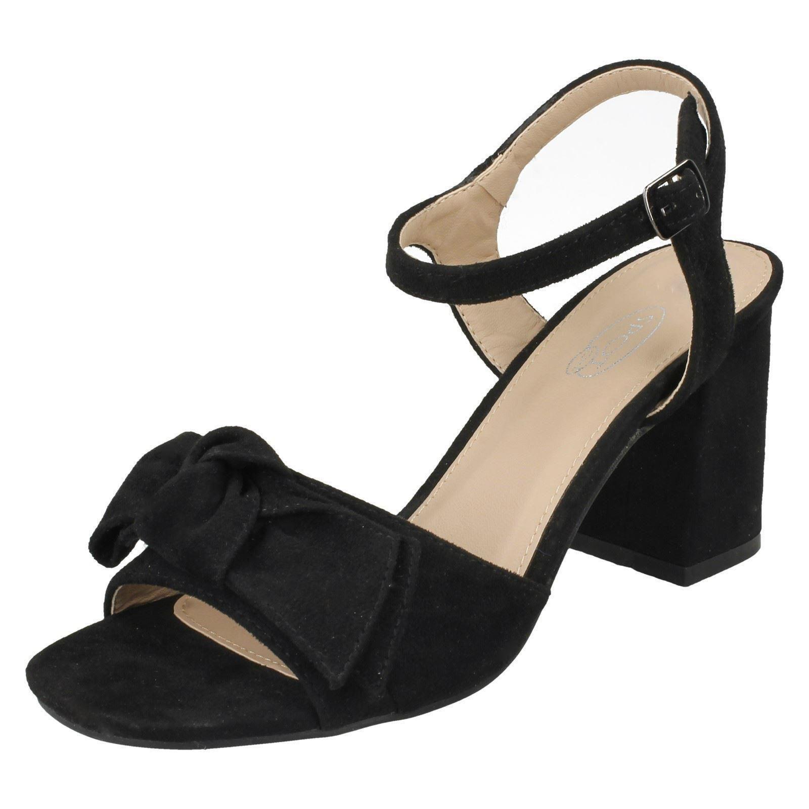 Donna Spot On blocchi di colore Tacco Sandali con cinturino alla caviglia
