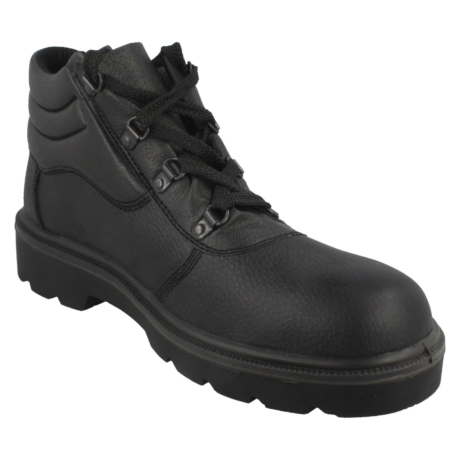 Mens Spot On Safety Leather Boots