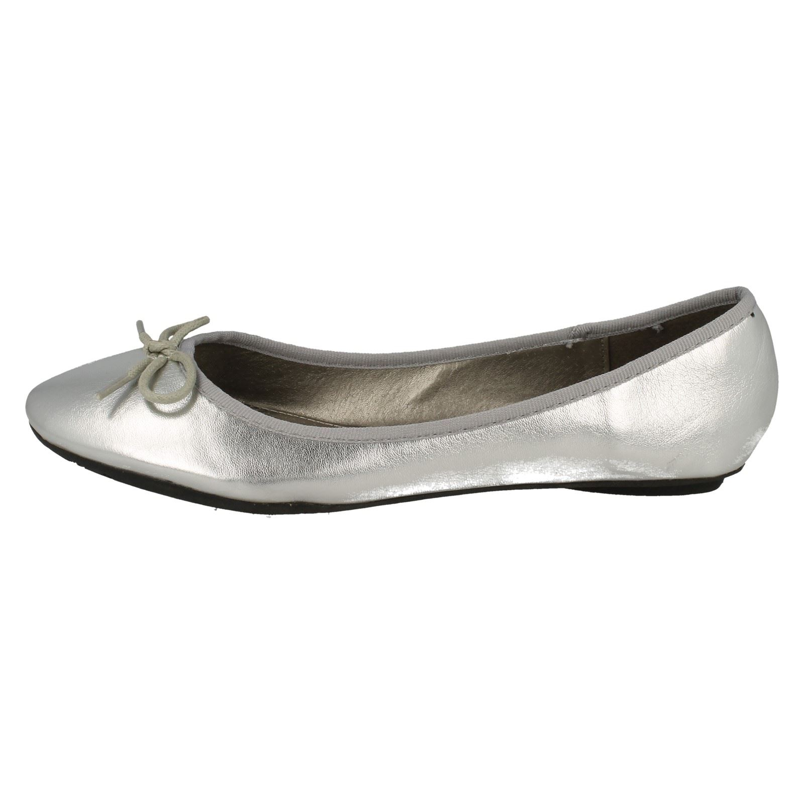 Ladies Spot On Casual Slip On Flat Ballet Shoes