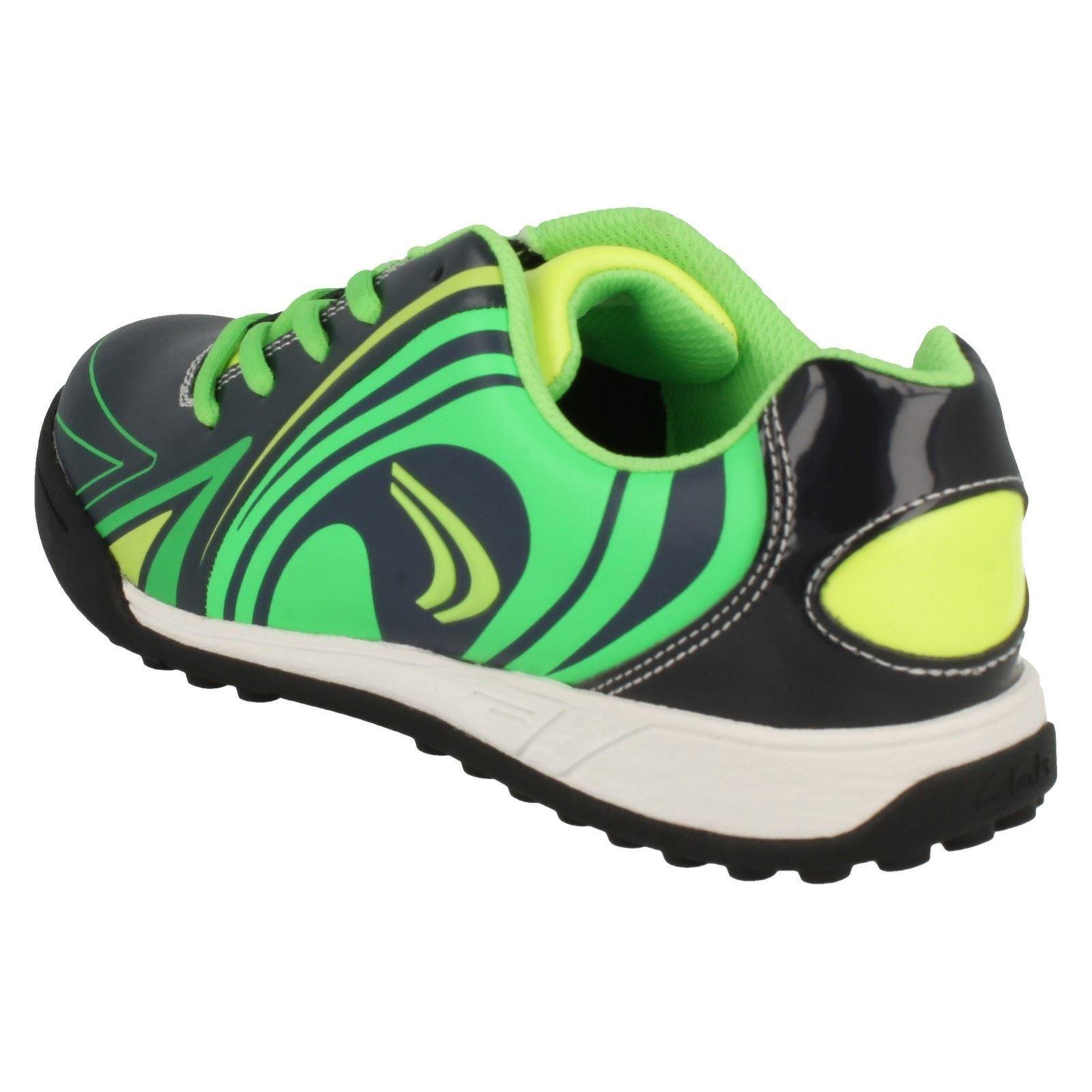Clarks de para Zapatillas Blue Sprint redondeada punta de Cica deporte con By niños FHdSdwq0x