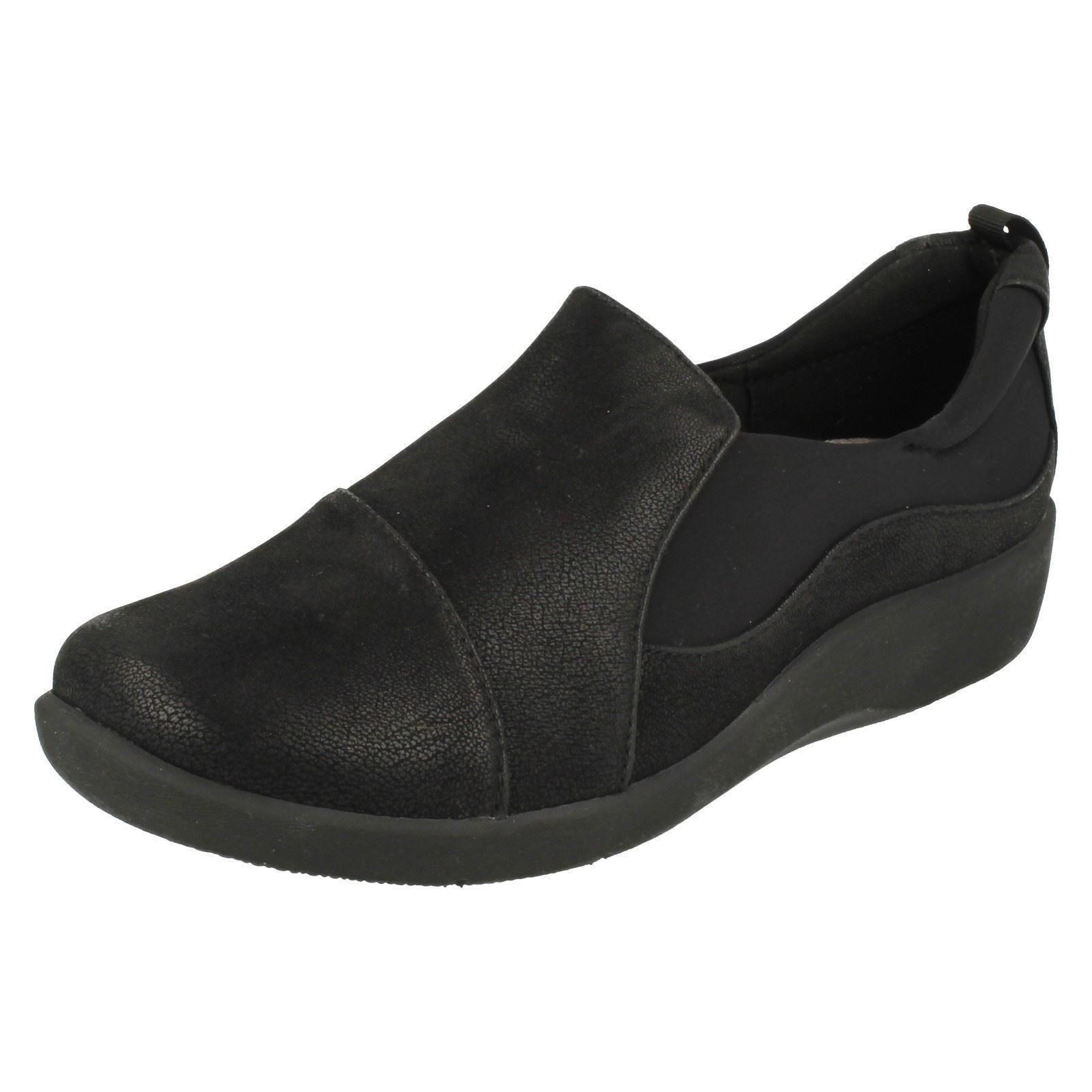 c045f46ba198e Ladies Clarks Cloudsteppers Casual Slip on Shoes Sillian Paz Black 4 UK E.  About this product. Picture 1 of 10  Picture 2 of 10 ...