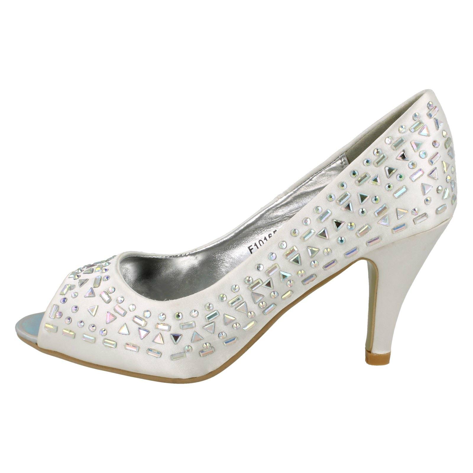 Damas Spot On Puntera Abierta Court Shoe