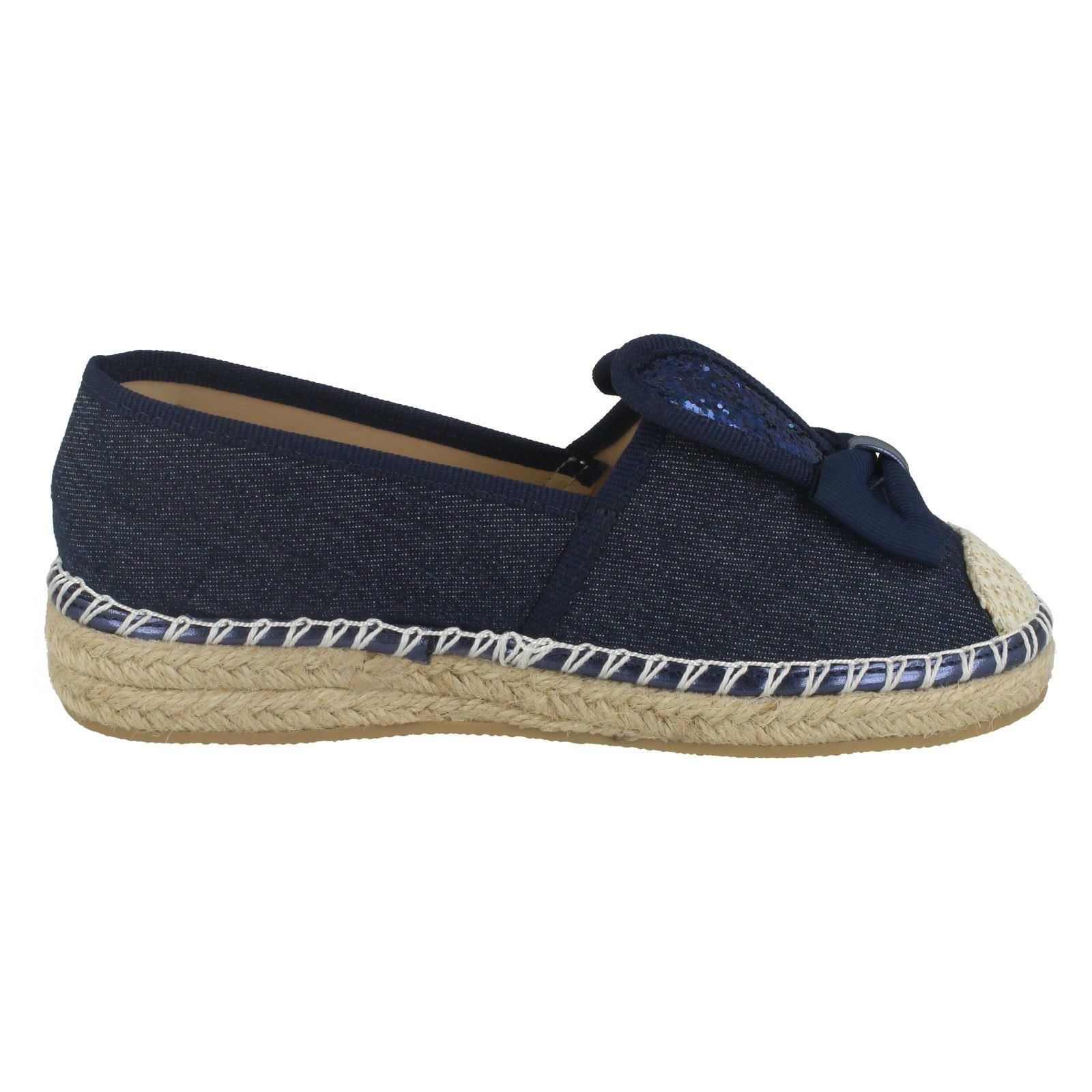 Girls Spot On Bunny Ears Canvas Shoes H2417