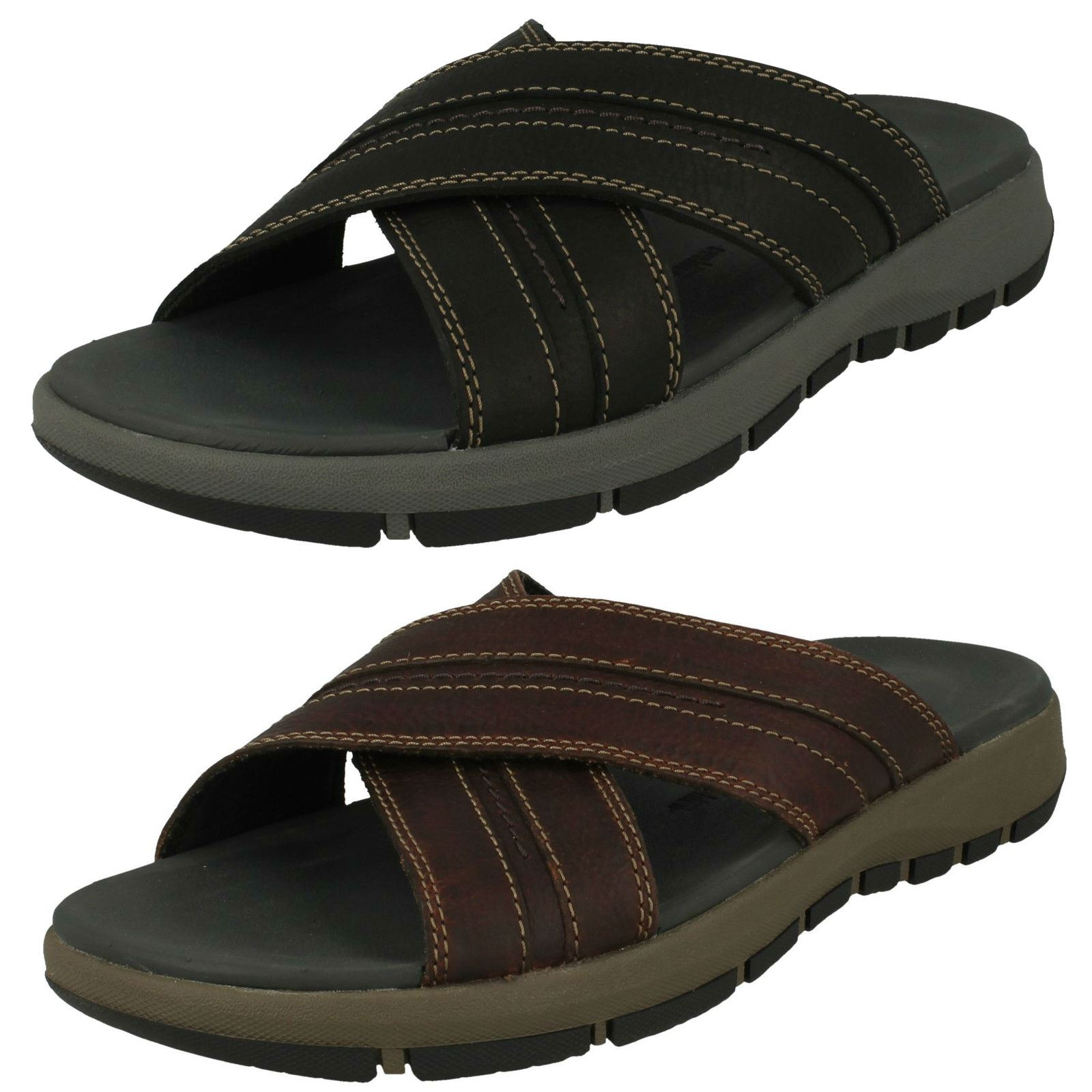 Mens Clarks Slip On Sandals *Brixby Cross*