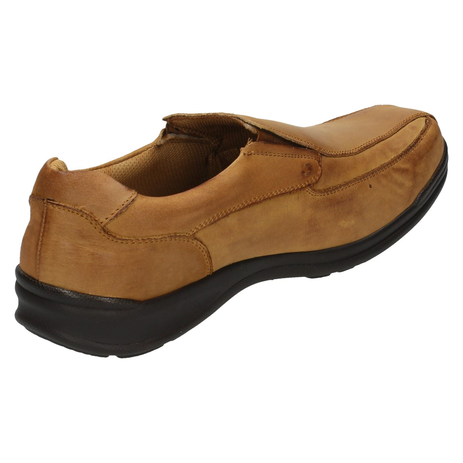 mens free step casual leather slip on shoes william ebay