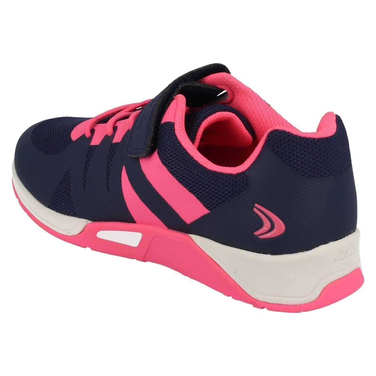 Senior Girls Star Entrenadores Casual Clarks Blue Trace Infant HRUO7qnwq