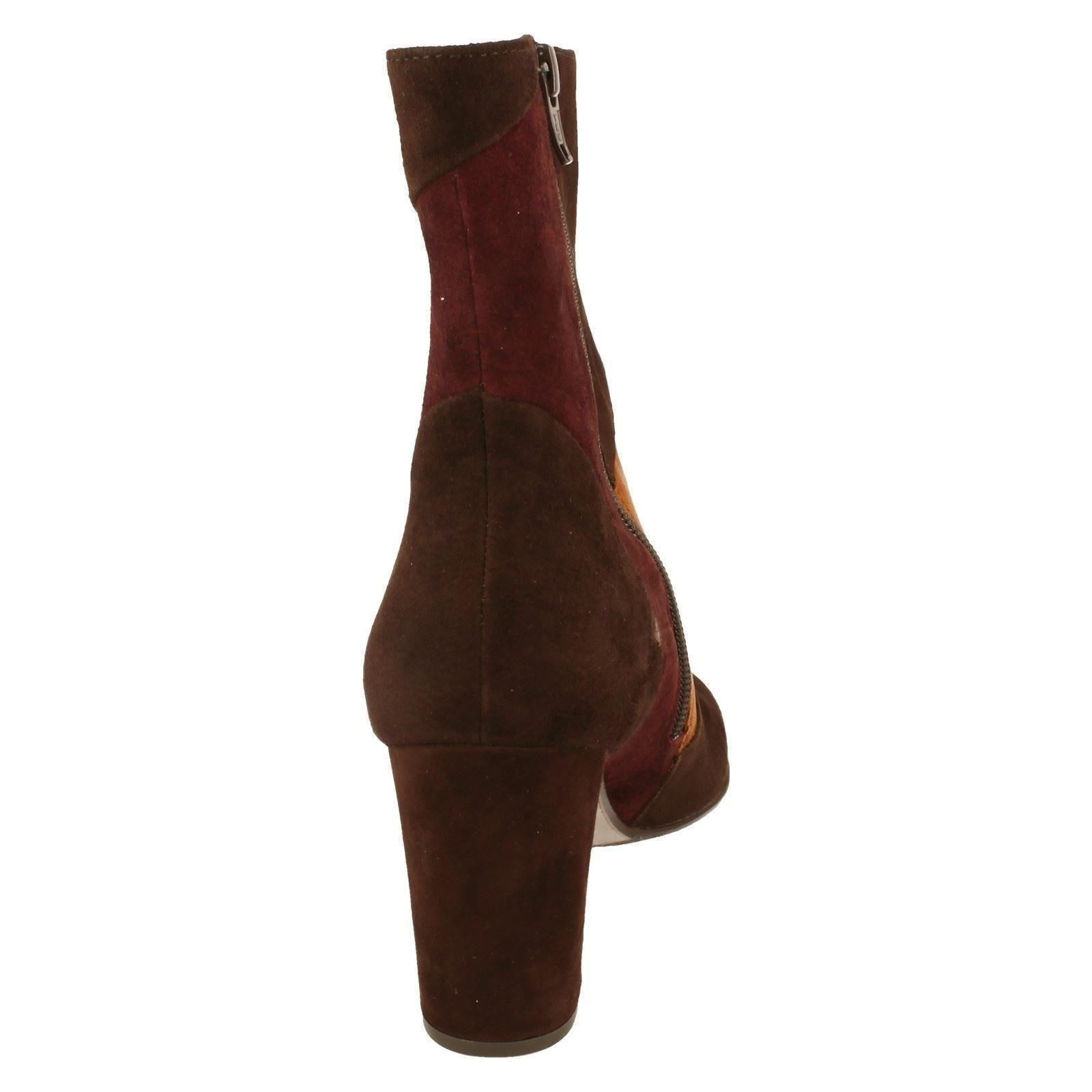 Ladies Gabor Suede Ankle Boots Boots Boots 55881 266243