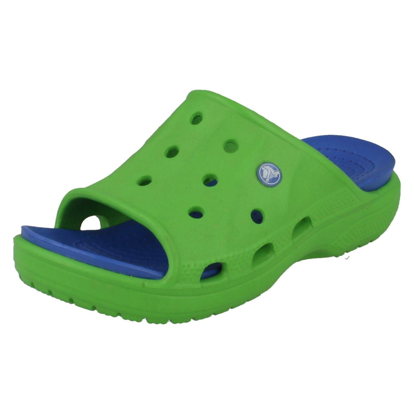 496eca8c3c628 Boys Crocs Feat Slide Kids Mule  Sandals