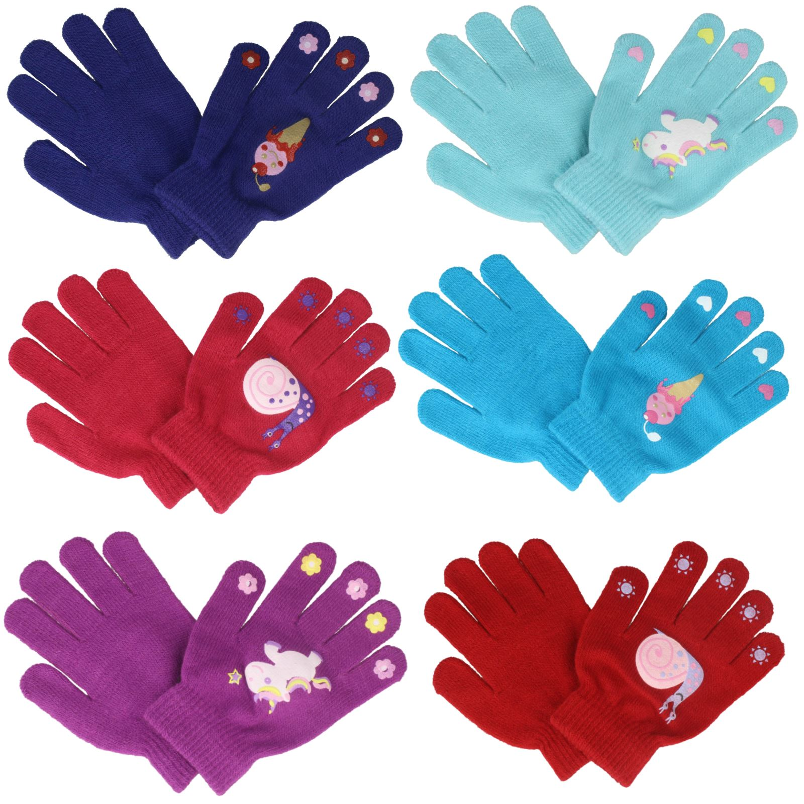 Girls RJM One Size Thermal Magic Gripper Gloves GL108//33377