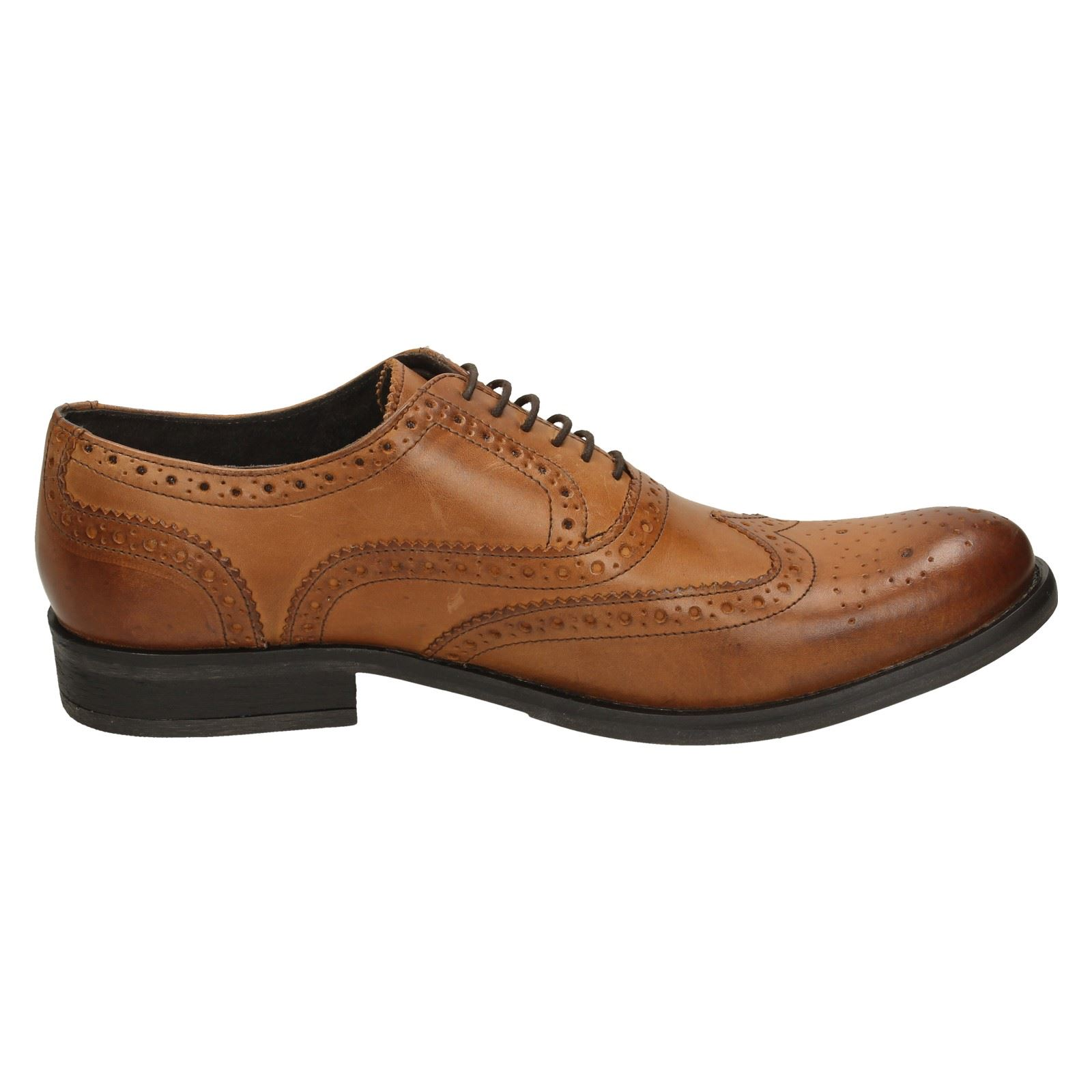 Herren Base London Brogue Leder Schuhes Walnut 0f1eee