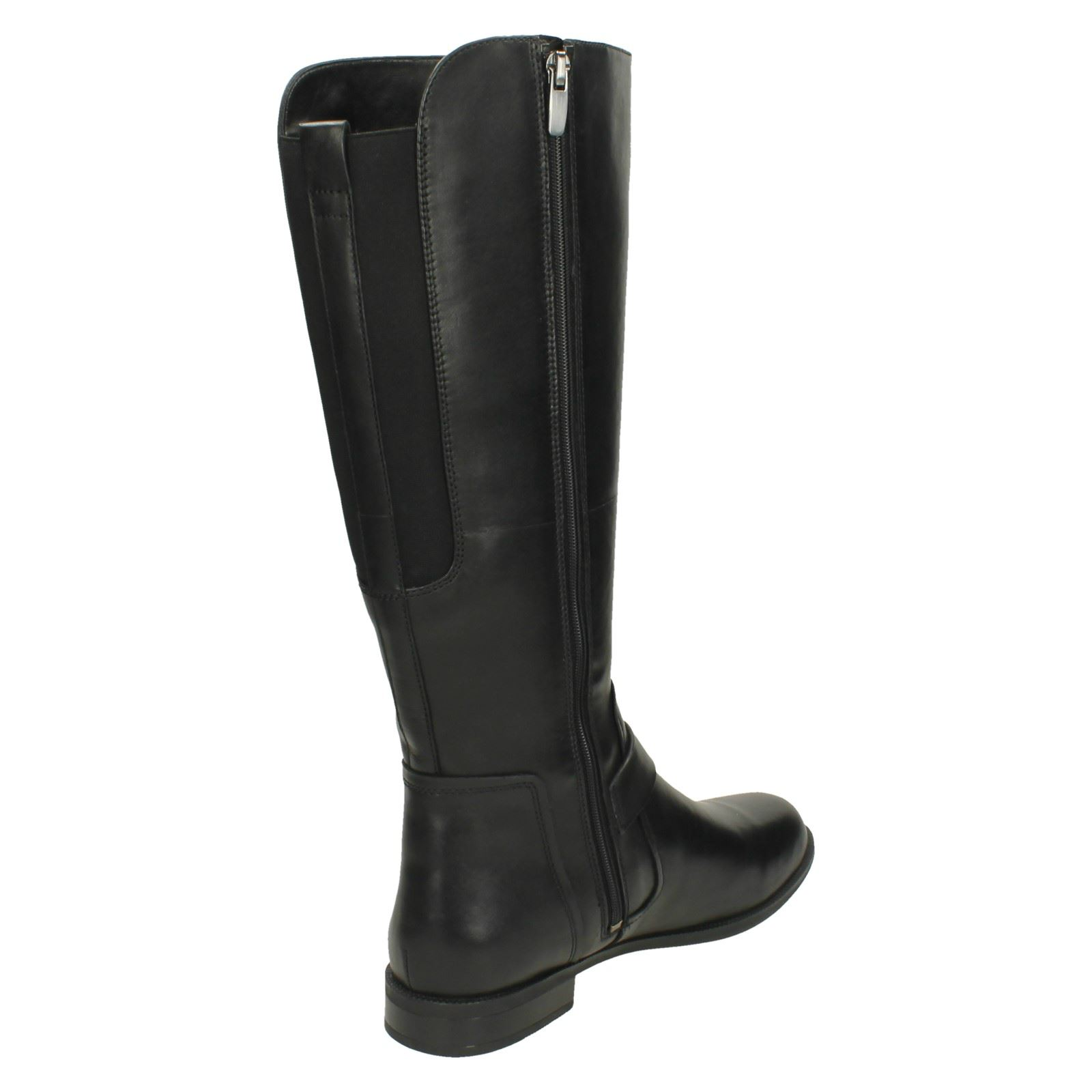 Ladies Clarks Clarks Clarks Casual Zip Up Knee High Boots Leather Boots Mint Treat 9ffa2a