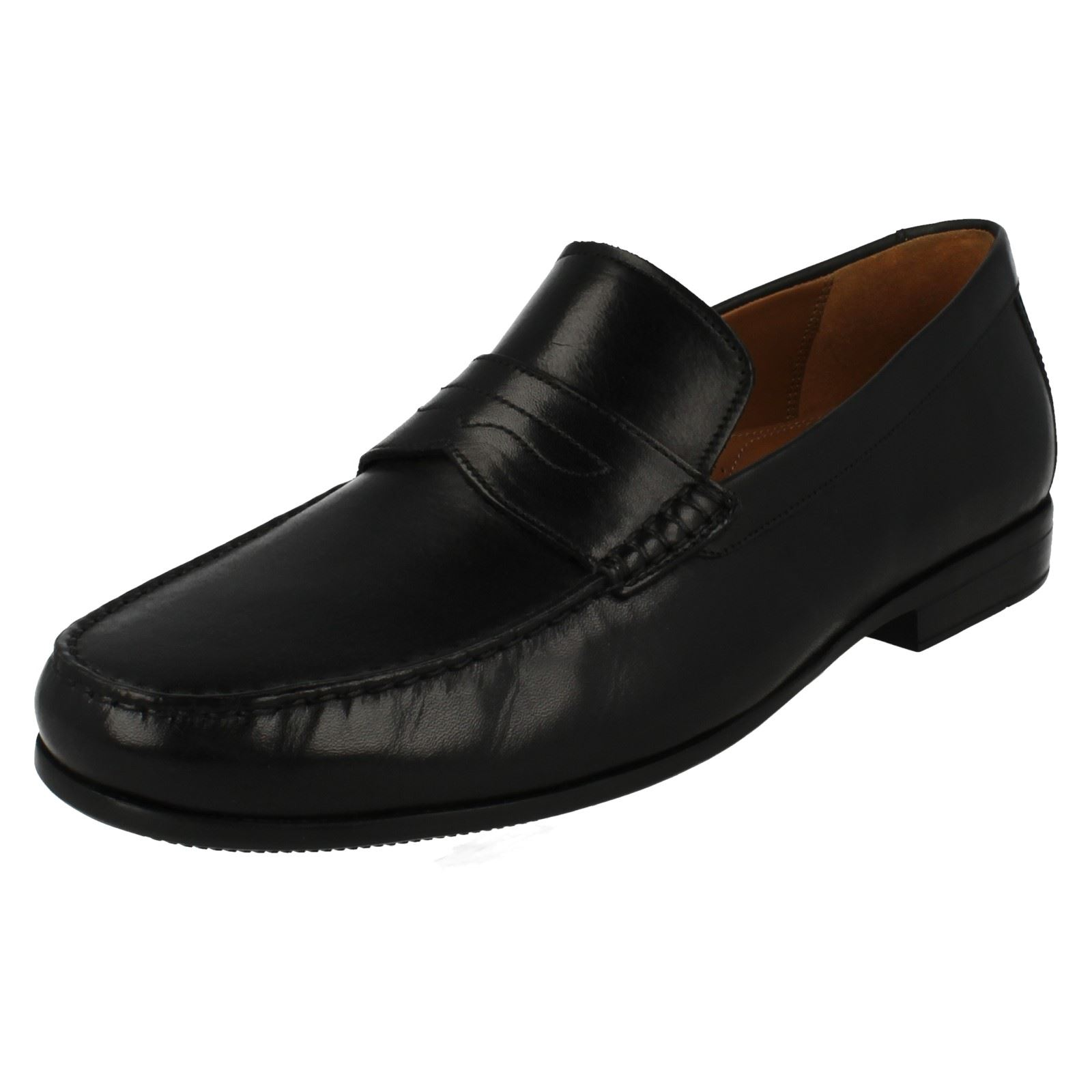 en Clarks Lane hombre de zapatos Clarks cuero formales Claude estilo para mocasín negro q6rCTwPIx6