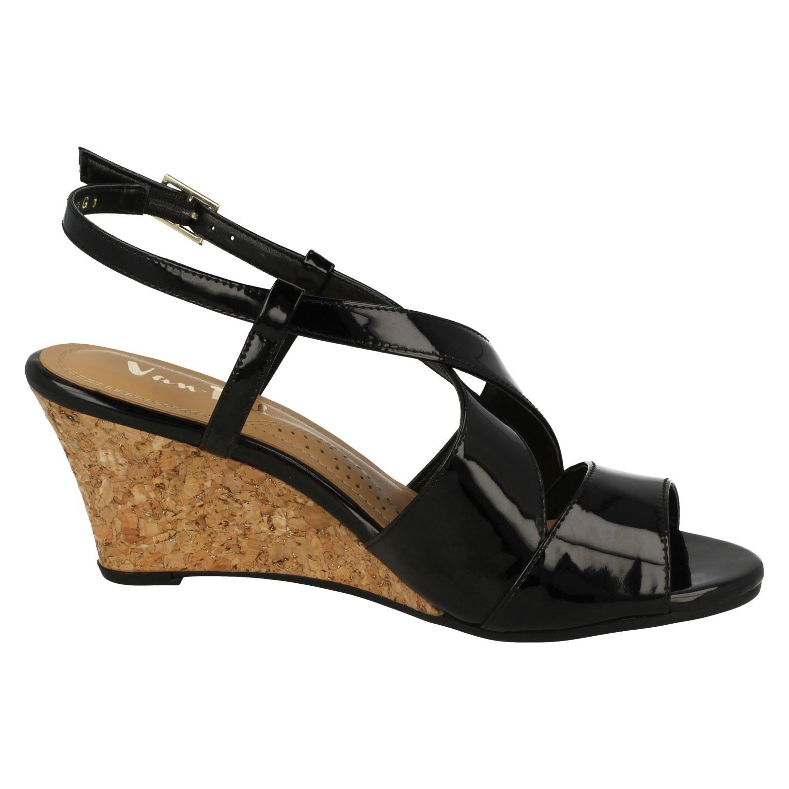 Ladies-Van-Dal-Cross-Strap-Wedged-Sandal-Allora thumbnail 15
