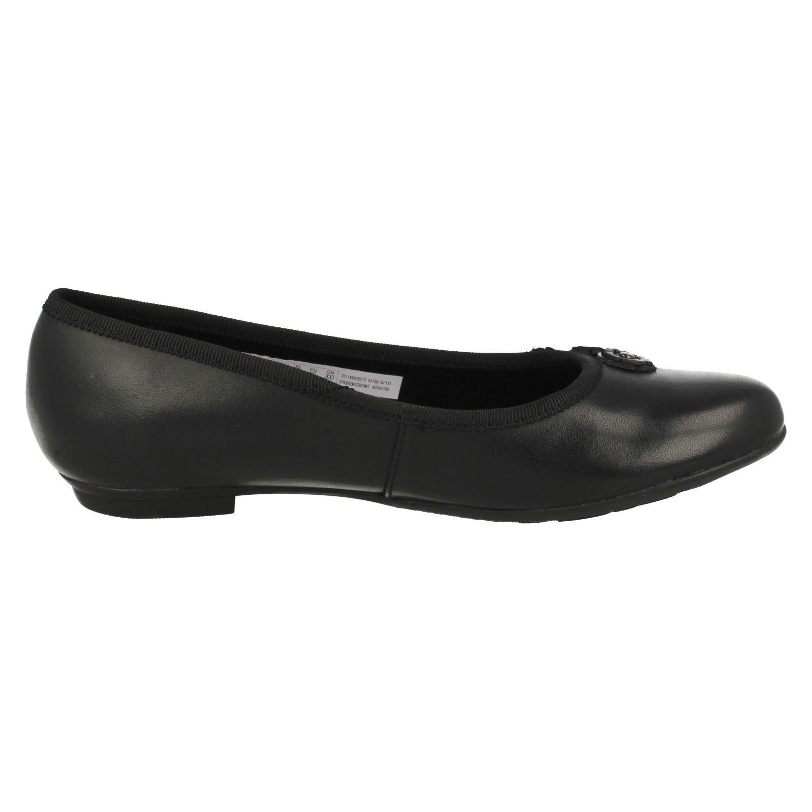 escolares Zapatillas abitha niñas bailarina estilo Negro para Joy Clarks menores 7drAdawqW