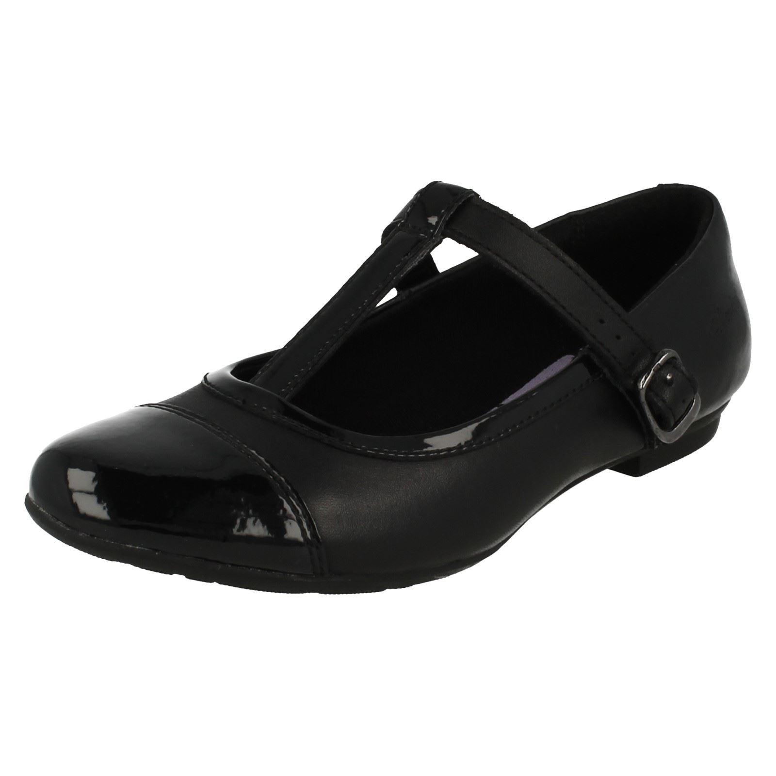 para escolares Zapatos T Smart Clarks Black niñas Abitha bar Mist pXdqd1wF