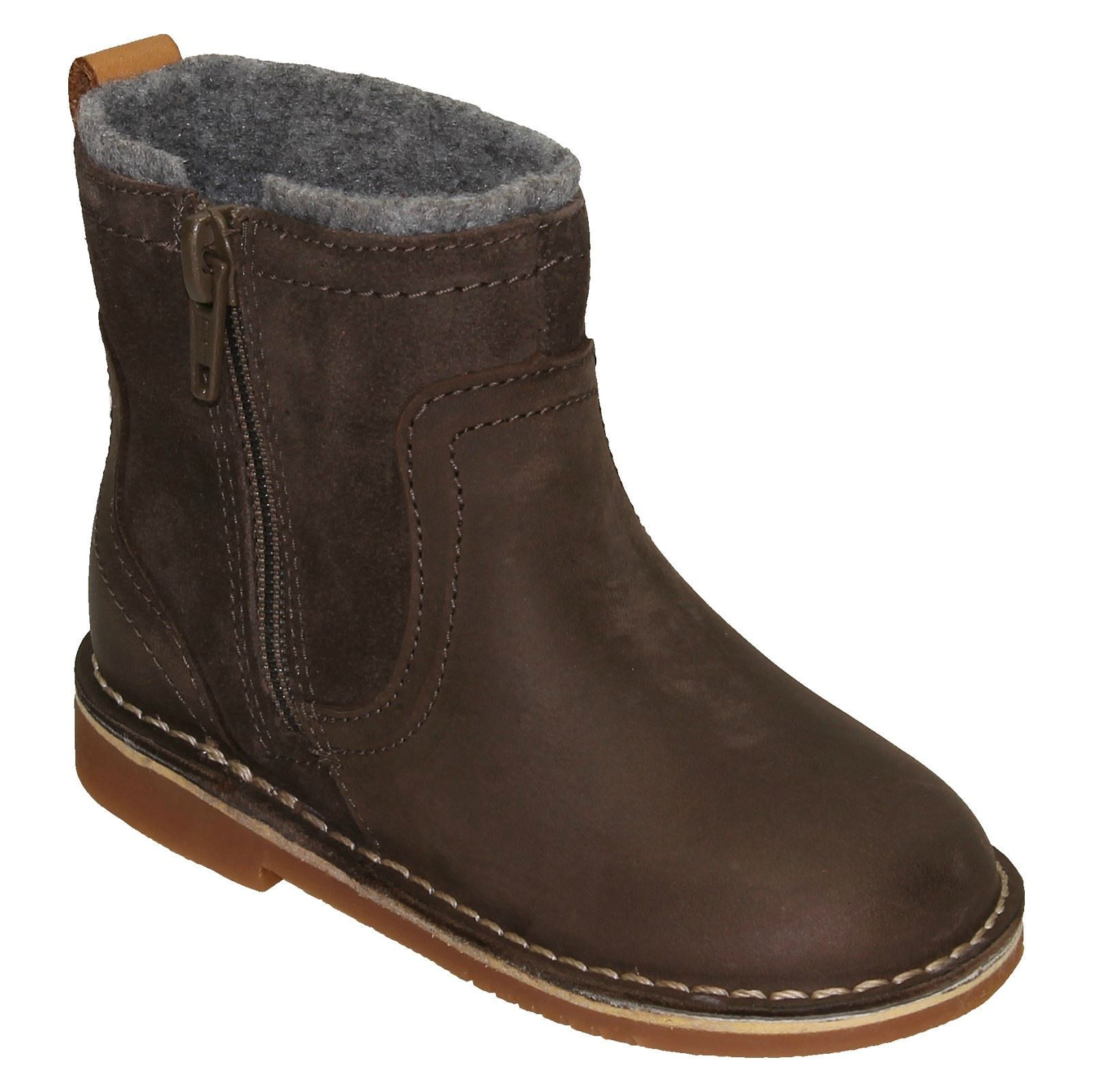 Girls Clarks Zip Up Ankle Boots /'Comet Frost/'