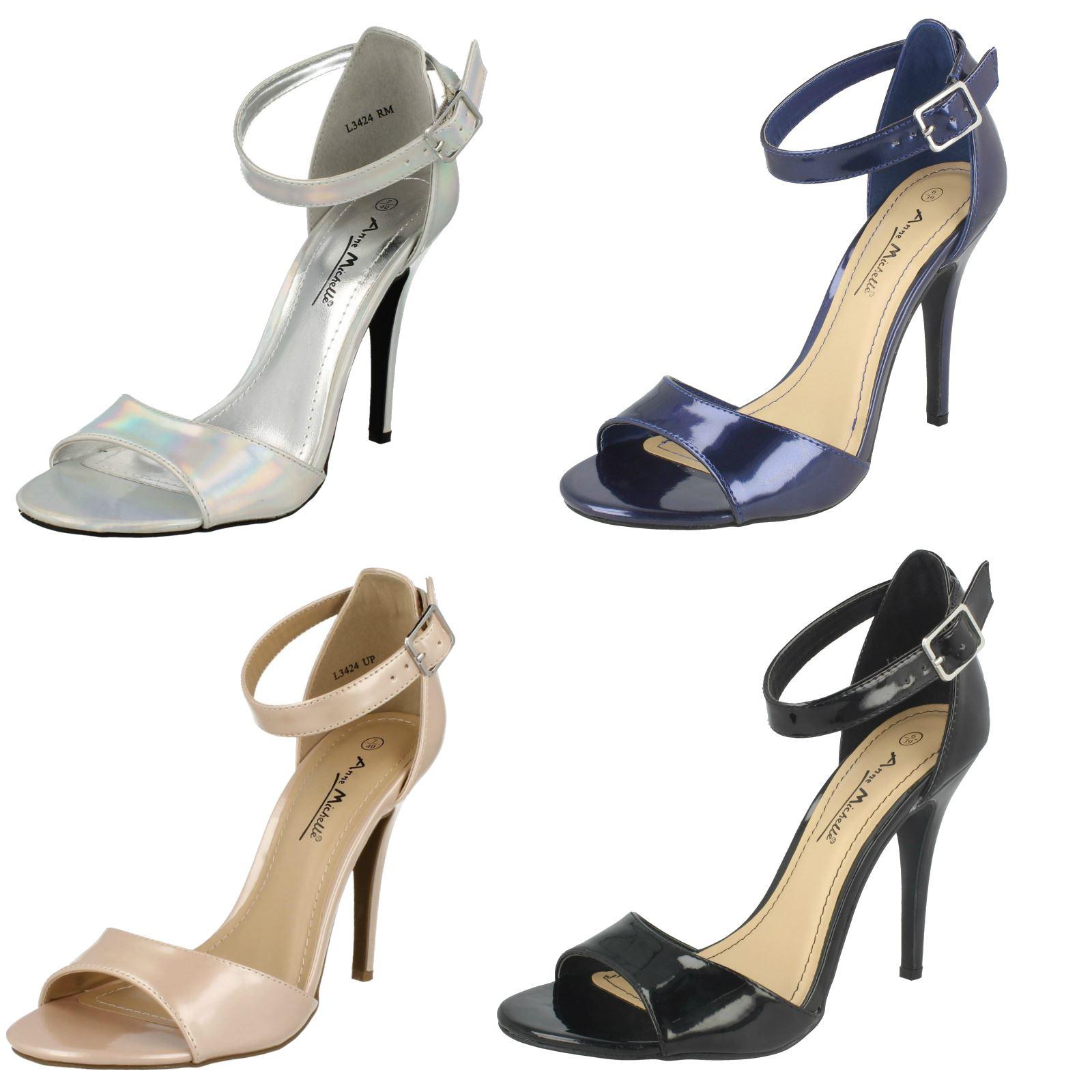 Anne Michelle WomensLadies Stiletto High Heel Peep Toe Lace
