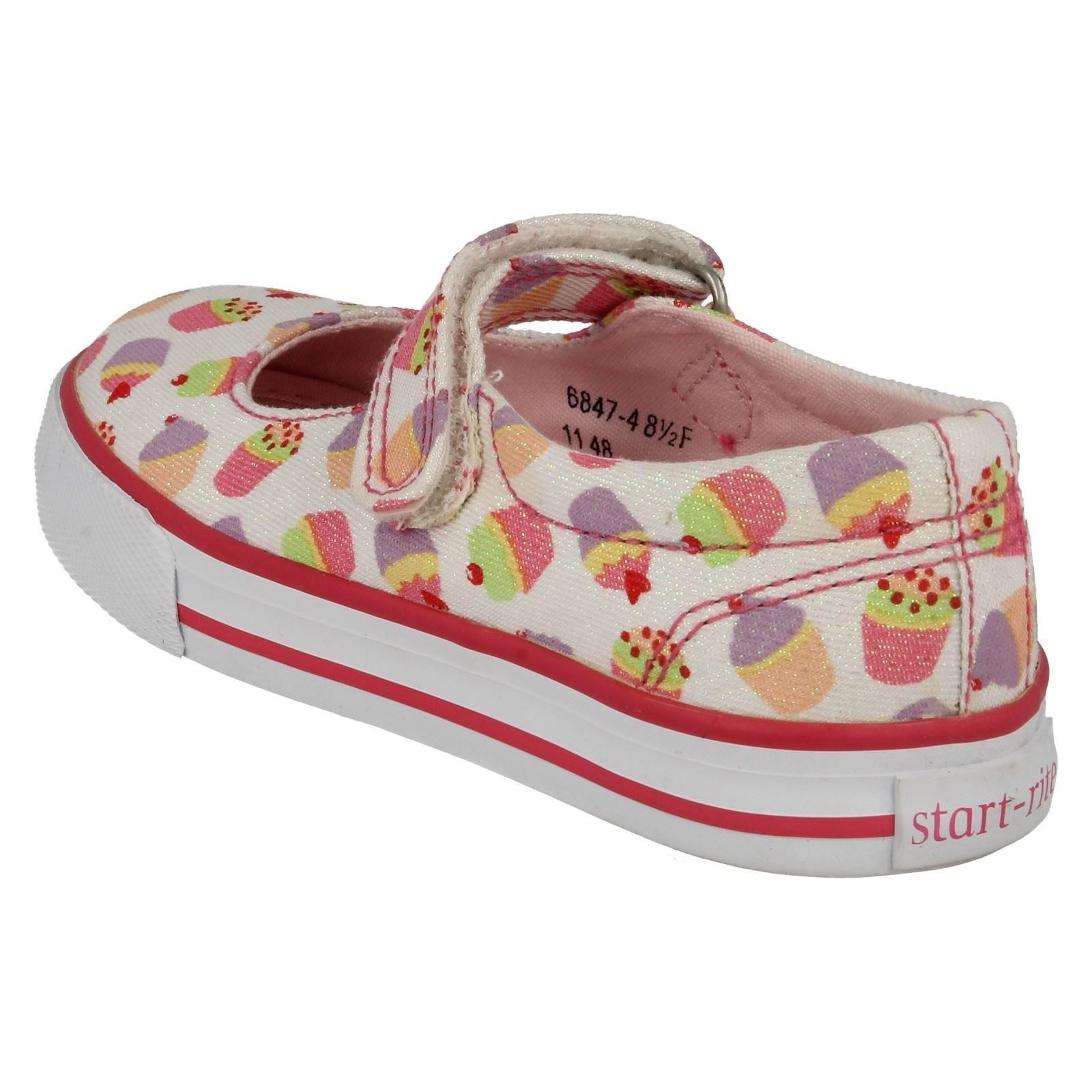 Girls Startrite Canvas Shoes Cupcake