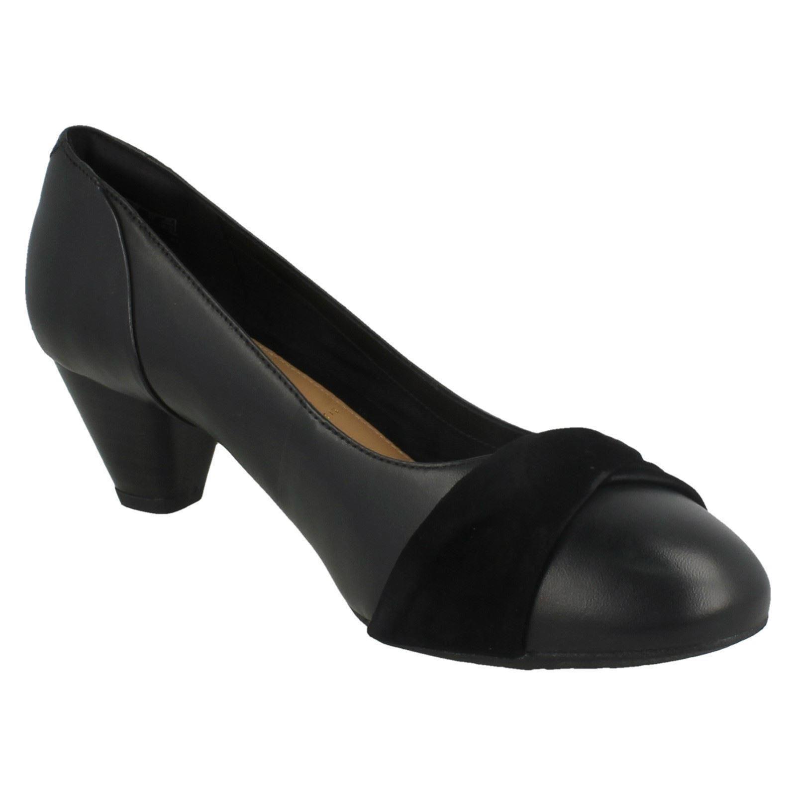 mesdames clarks talons bas intelligent chaussures / tribunal chaussures intelligent * denny louise * b93c4a