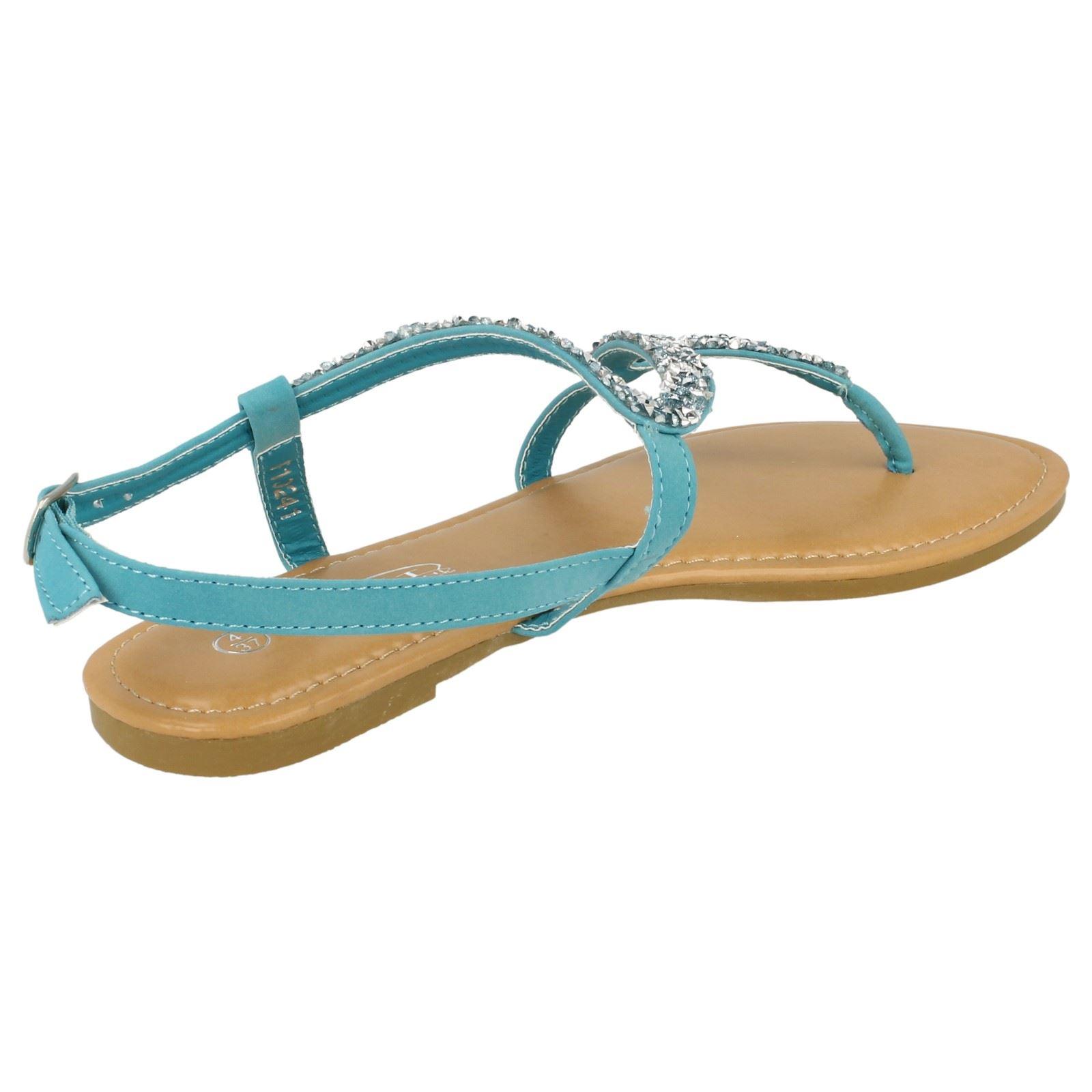 Spot-On-Donna-Open-Toe-Paillettes-Ondulato-Sandali miniatura 18