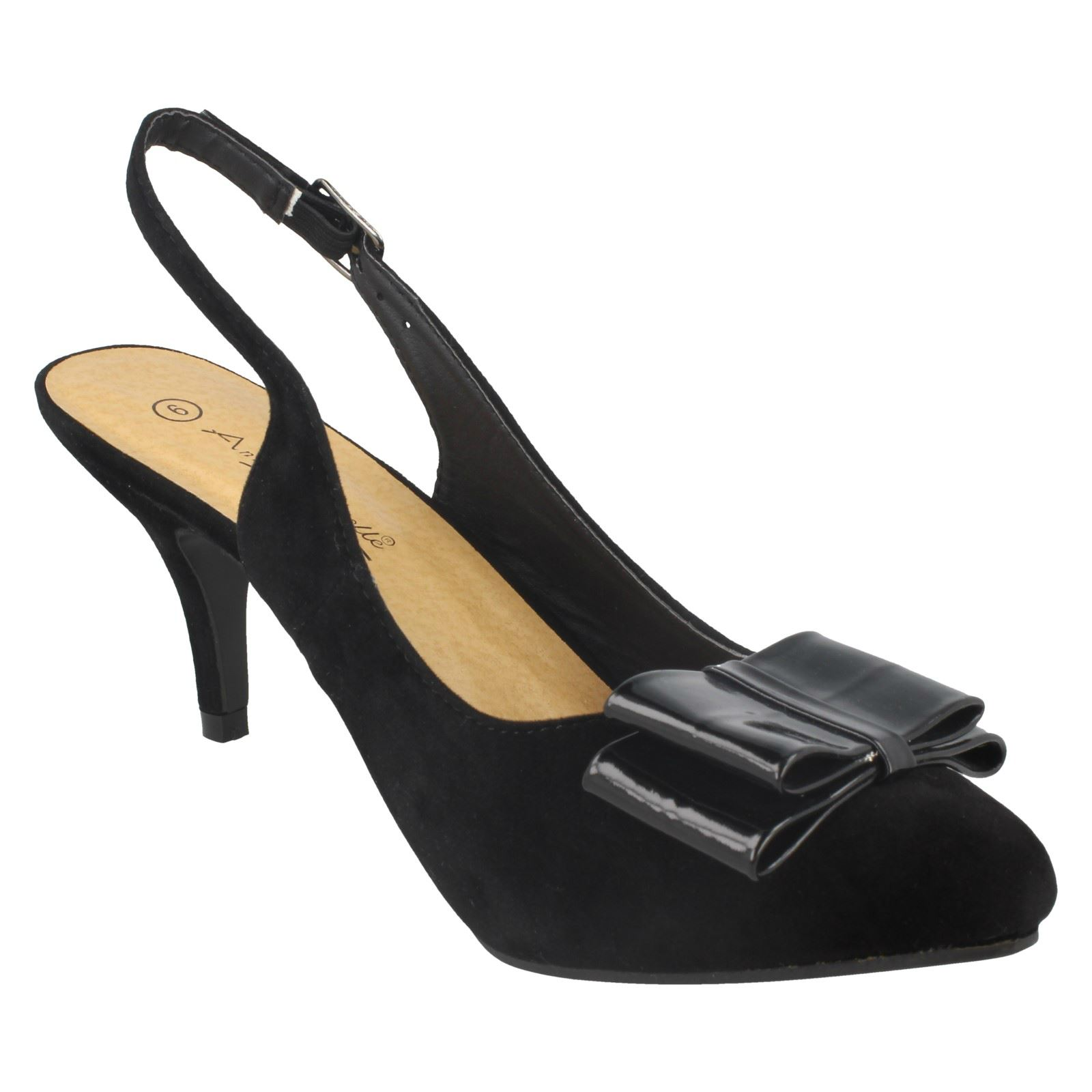 Ladies-Anne-Michelle-Bow-Detail-Slingback-039-Court-Shoe-039