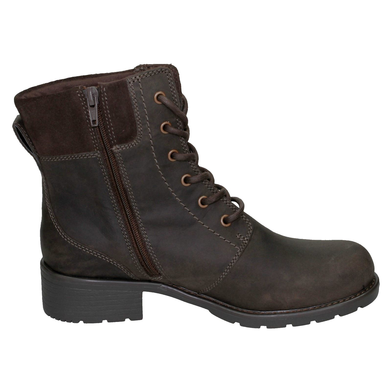 Ladies-Clarks-Casual-Lace-Up-Inside-Zip-Nubuck-Leather-Ankle-Boots-Orinoco-Spice thumbnail 34