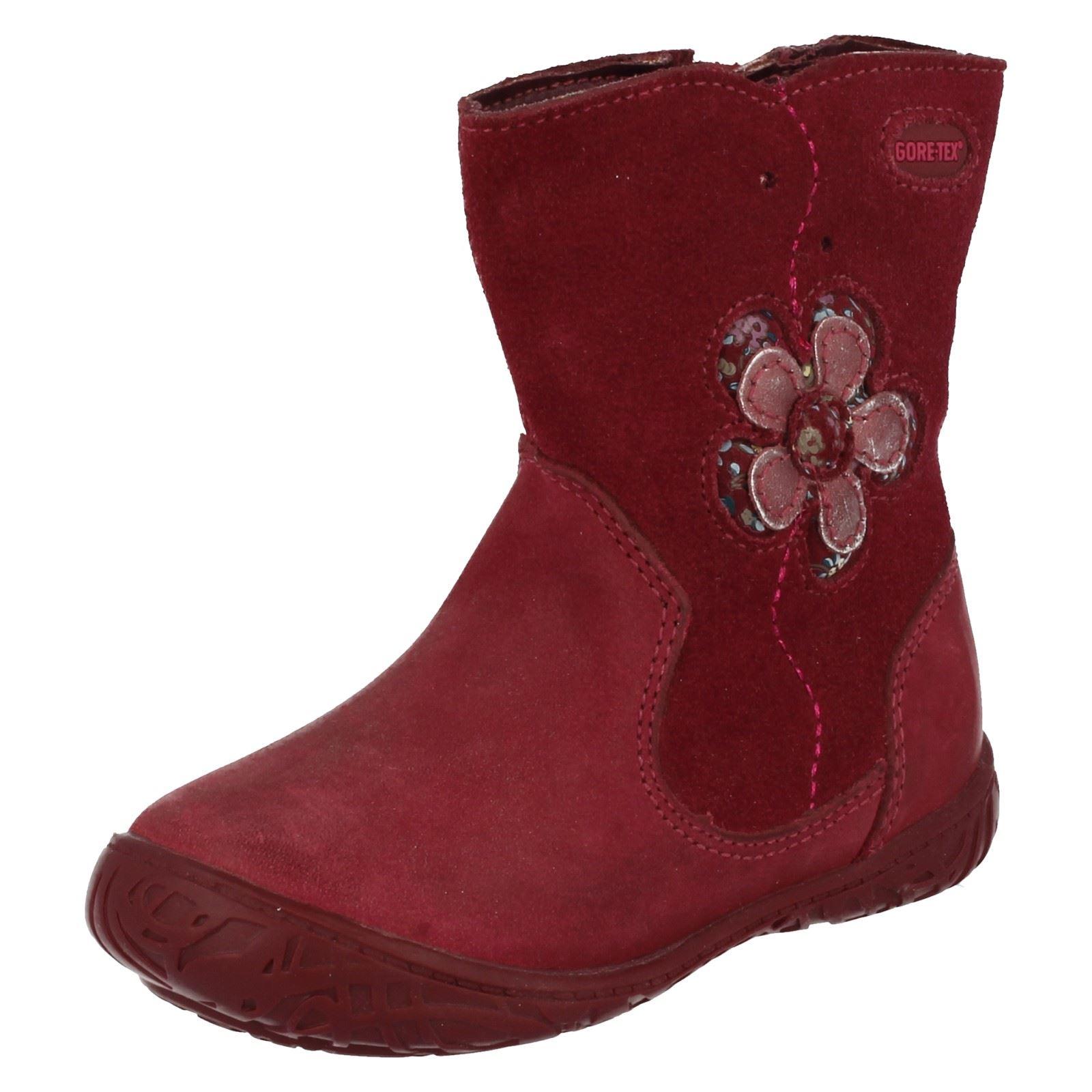 de niña Clarks So para Hoola flores Gtx Botas Berry rojo 64TBcOWyBH