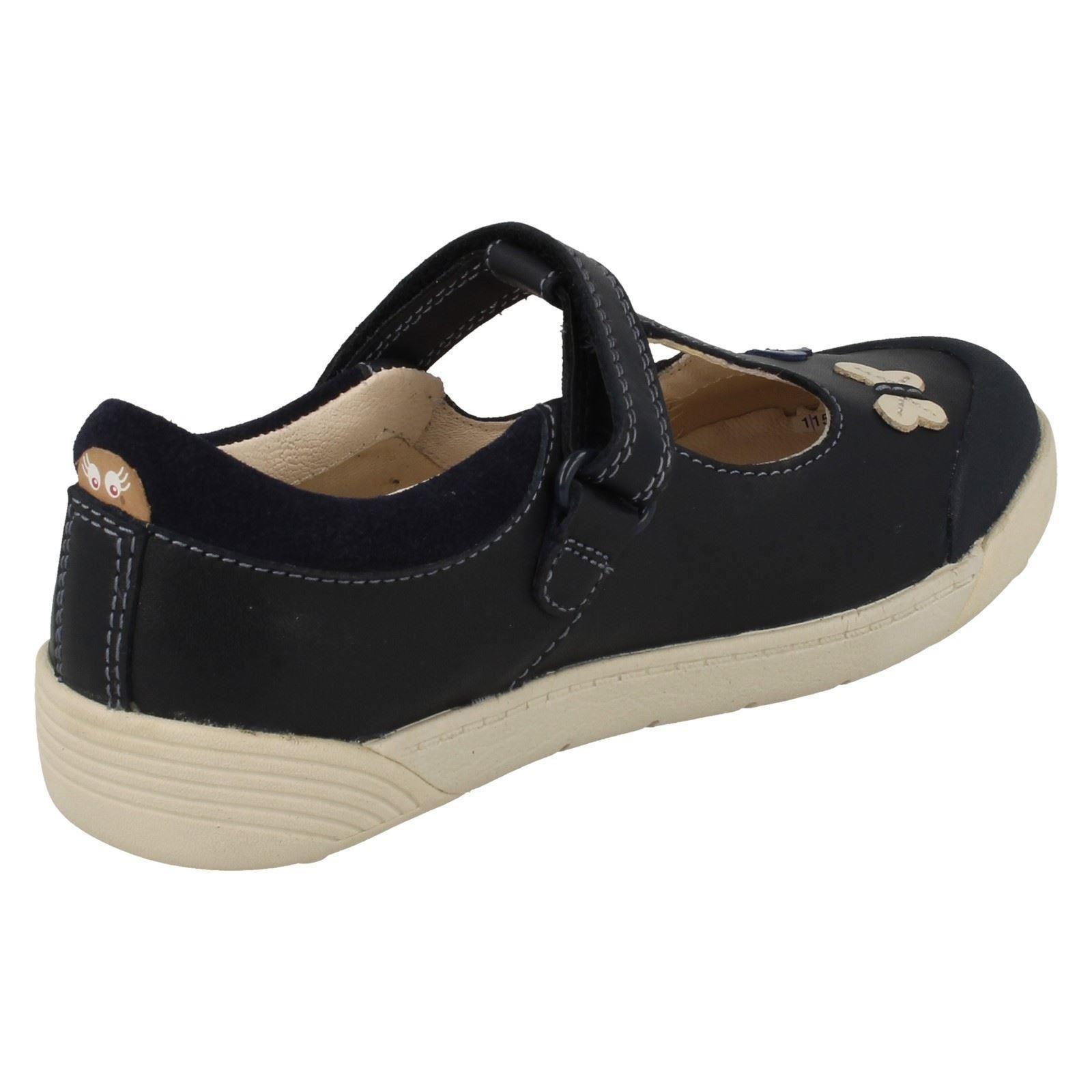 Flo niñas azul bar Lil marino T Zapatos Folk para Clarks azul 0xPtOqqwHU