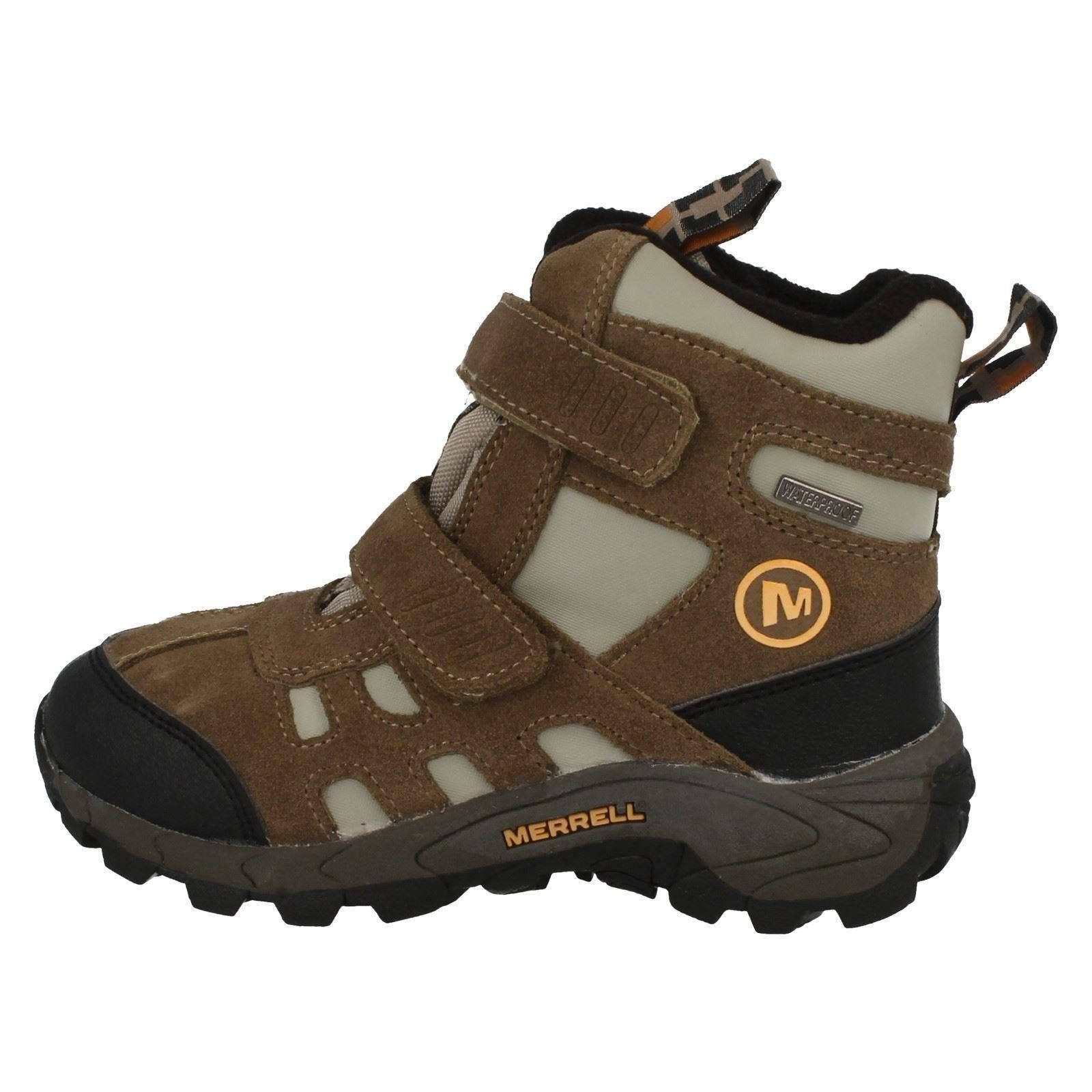 Enfants-Merrell-Impermeable-Bottine-Moab-Polar