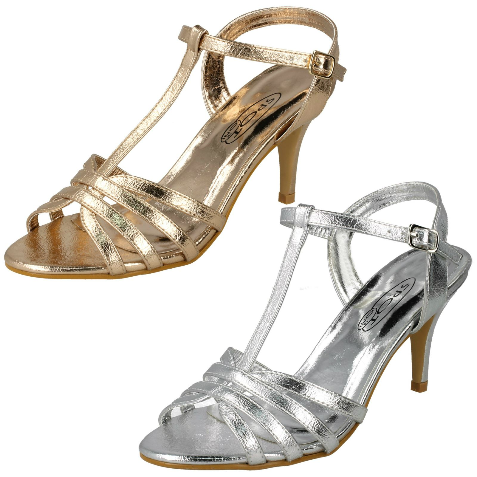 Fashion Sandali Scarpe da Donna Tacco Alto Sandali Pumps 9717 ARGENTO 39