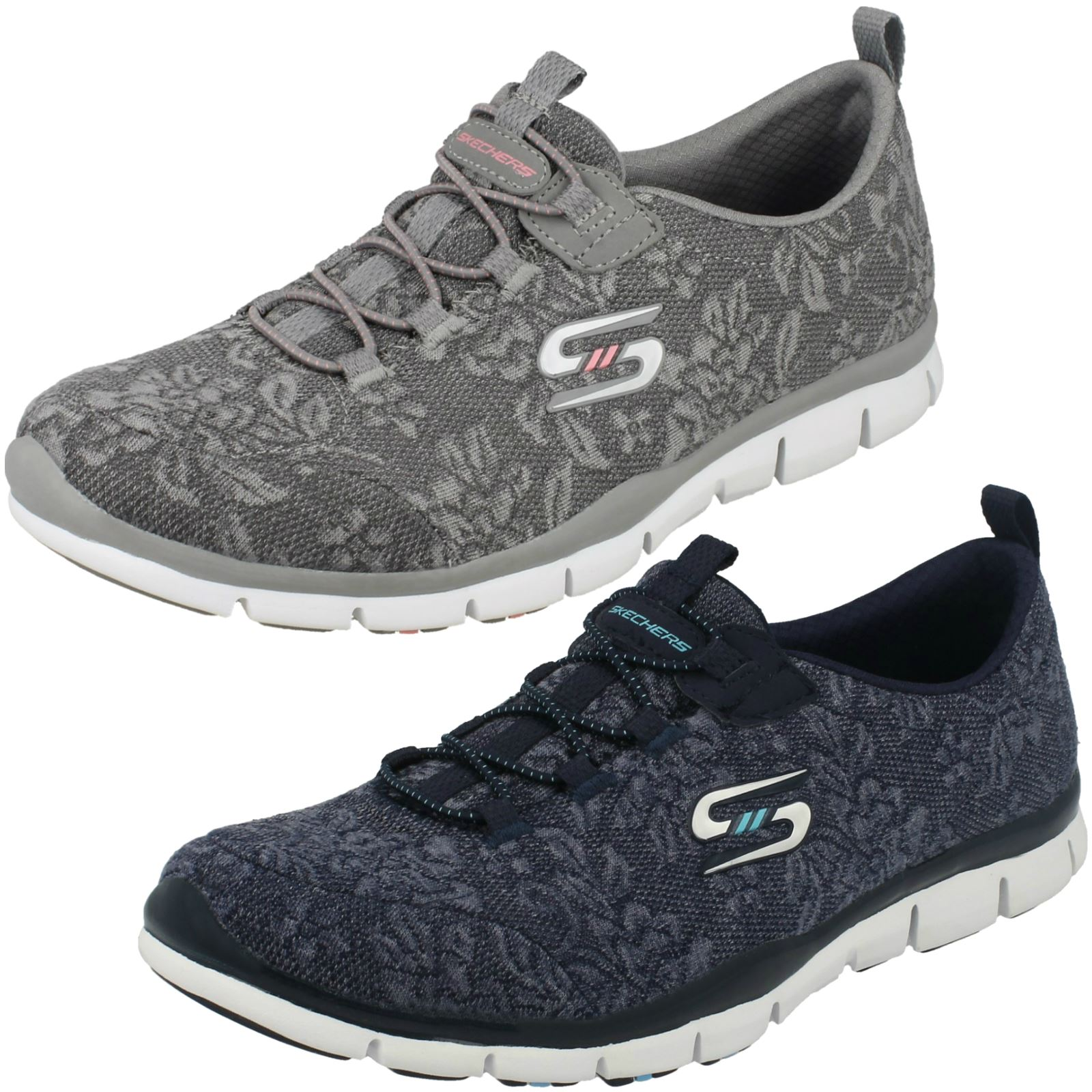 the best attitude e2724 46498 Details about Ladies Skechers Lace Detail Slip On Trainers Lacey 22764